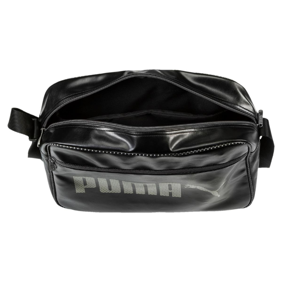 3bc28613764c PUMA Campus Reporter Bag in Black for Men - Lyst