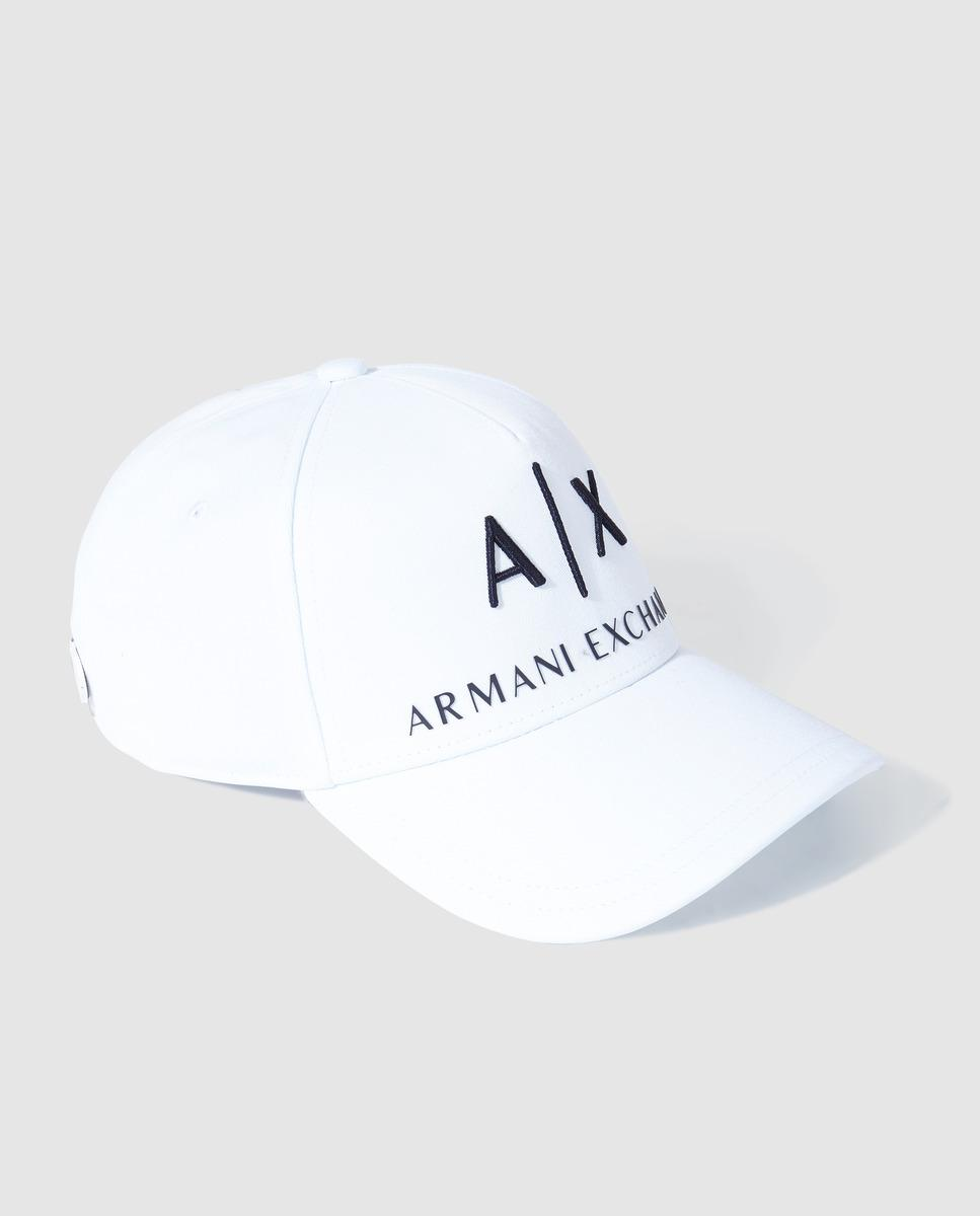 b18089f4158 Lyst - Armani Exchange Mens Classic White Cap in White for Men