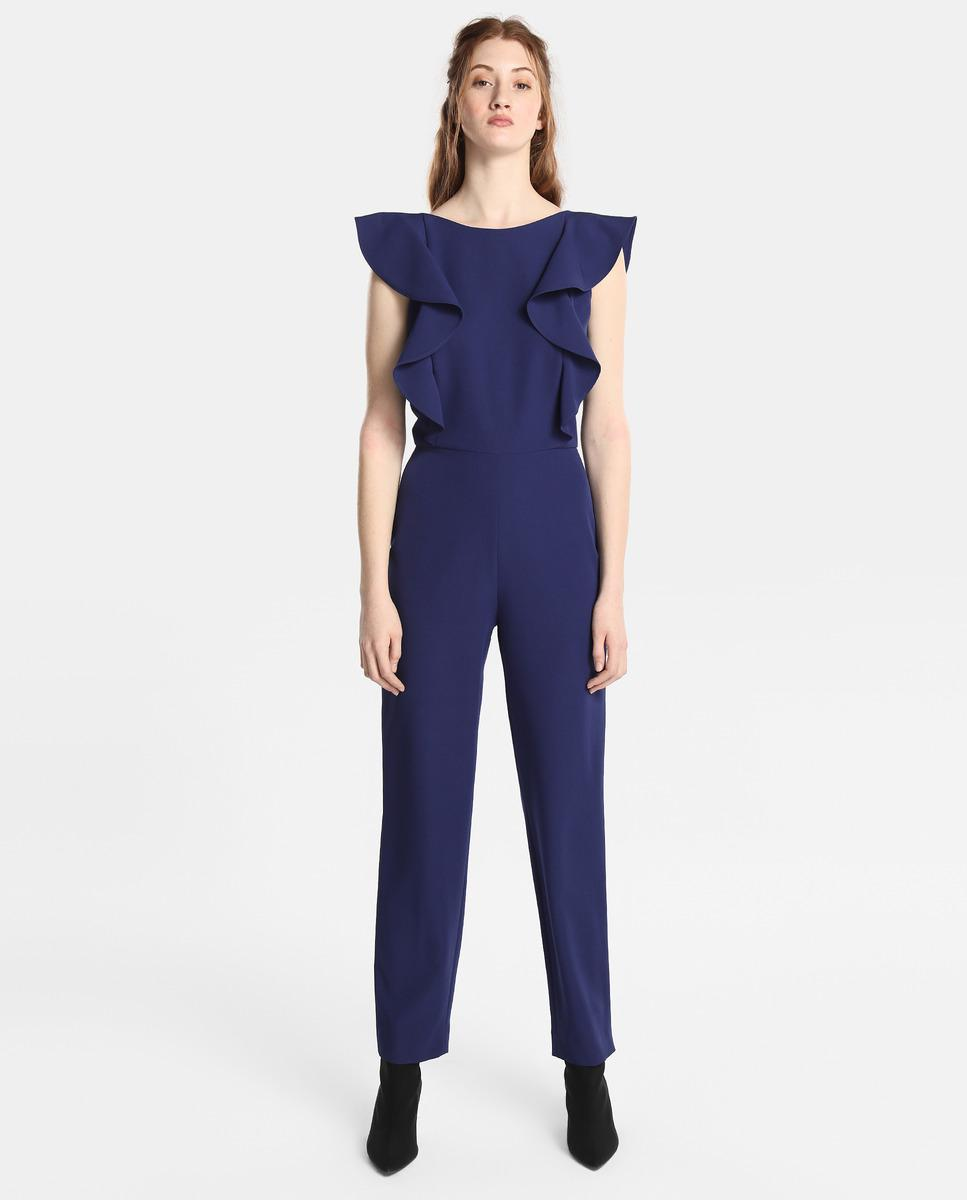 5e503e72c58 Lyst - Green Coast Blue Jumpsuit With Frills in Blue