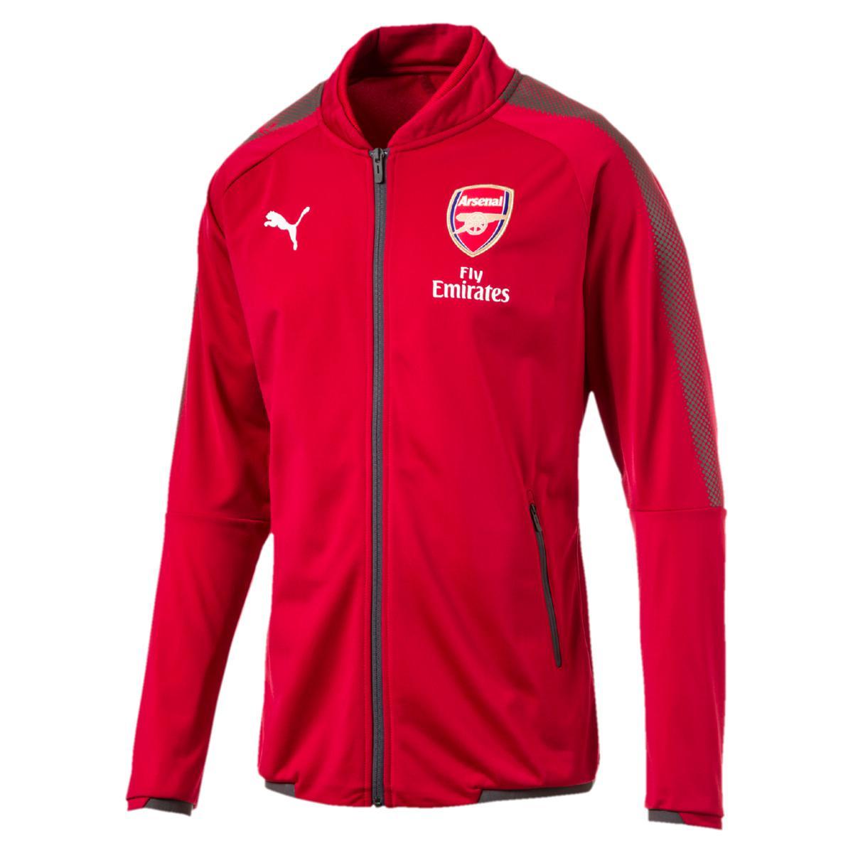 PUMA. Men's Red Arsenal Fc 2017-2018 Stadium Sweatshirt