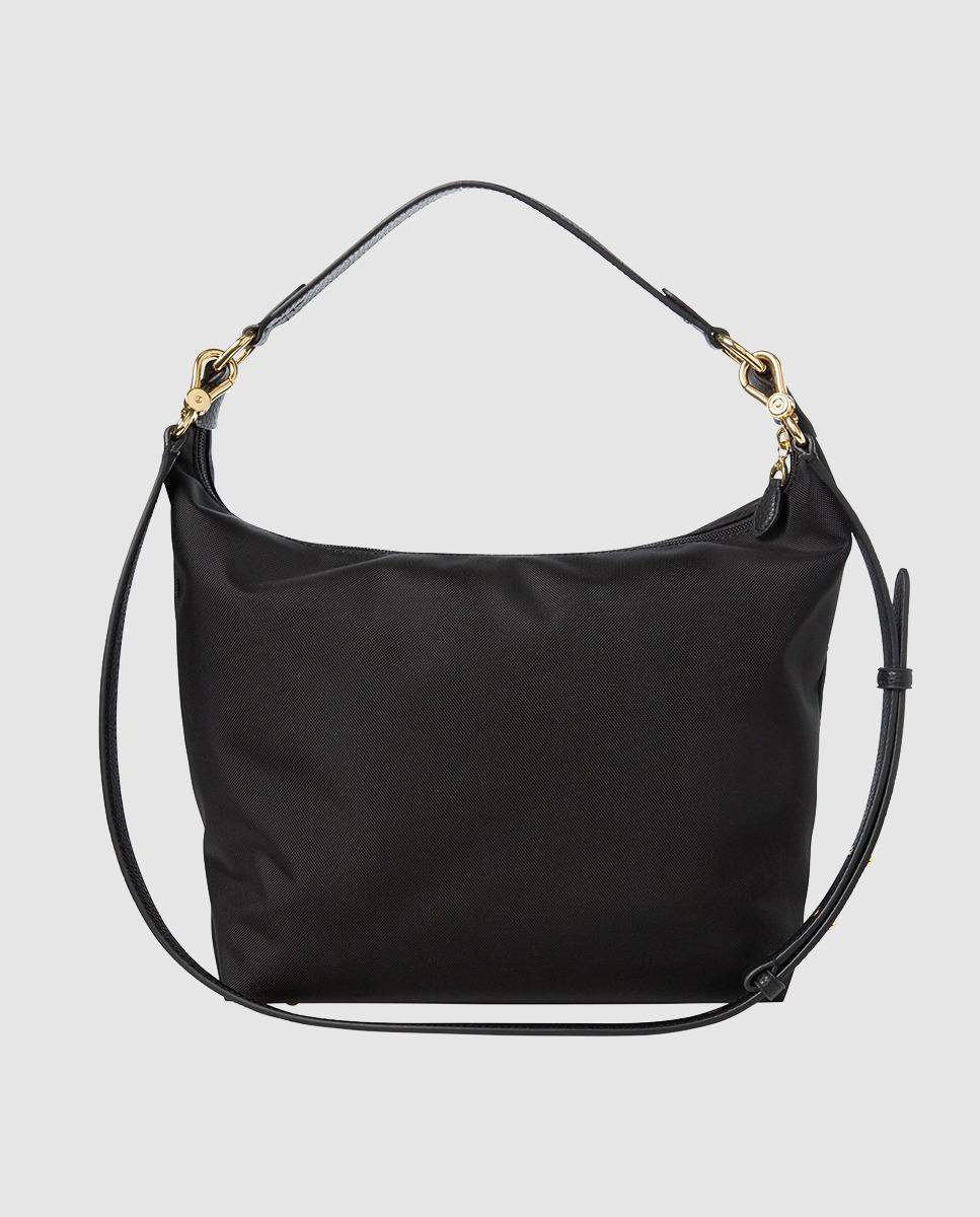 fd79e5913691 Lyst - Lauren by Ralph Lauren Medium Black Nylon Hobo Bag With Zip in Black