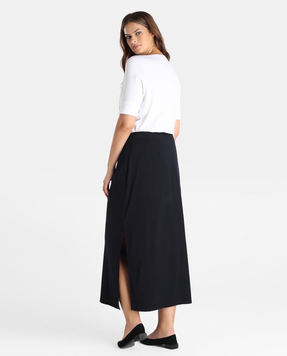 c7a04809b0 Long Black Denim Skirt Plus Size
