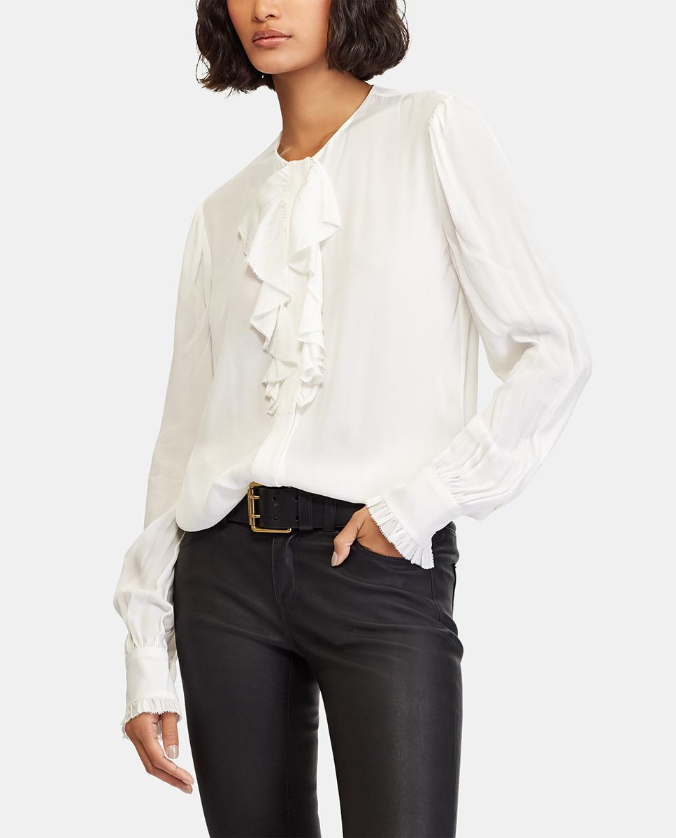 118d78bc55 Polo Ralph Lauren. Women s White Blouse With Frill. £169 £85 From El Corte  Ingles