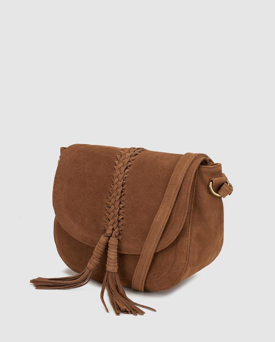 2379d9eb2f71 Couchel Wo Suede Camel Crossbody Bag With Tassels in Brown - Lyst