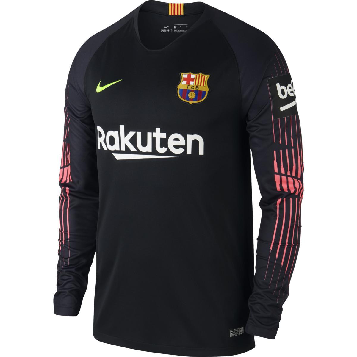 9317249fb Nike. Men s Black Fc Barcelona 2018-2019 Breathe Stadium Goalkeeper T-shirt