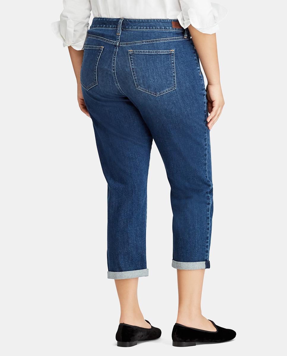 f20cc7b764af2 Lyst - Denim   Supply Ralph Lauren Plus Size Capri Jeans With Turned-up  Cuffs in Blue