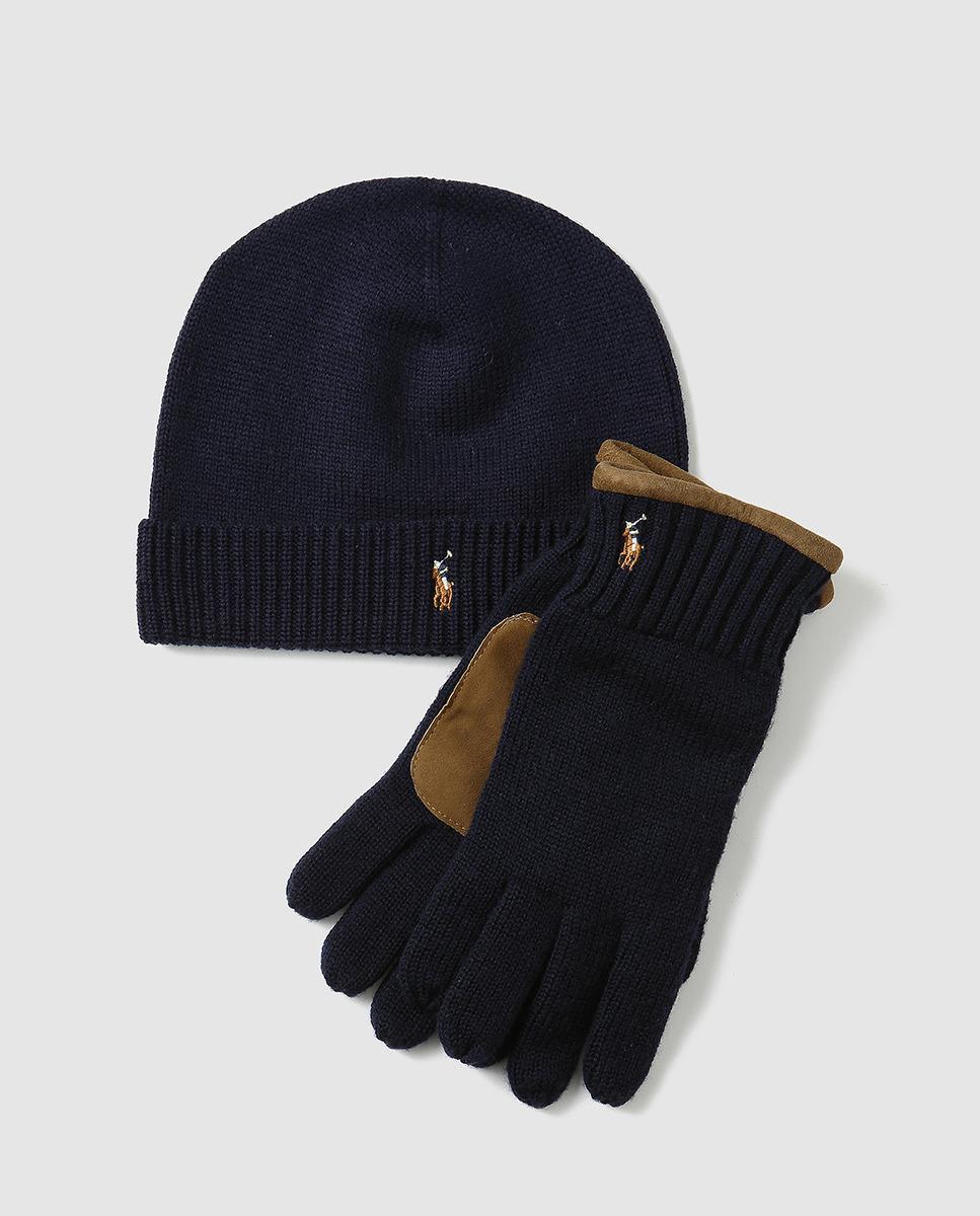 2870b1583e1b5d denmark polo ralph lauren hat scarf accessories set in blue for men lyst  d0f33 0d0f0