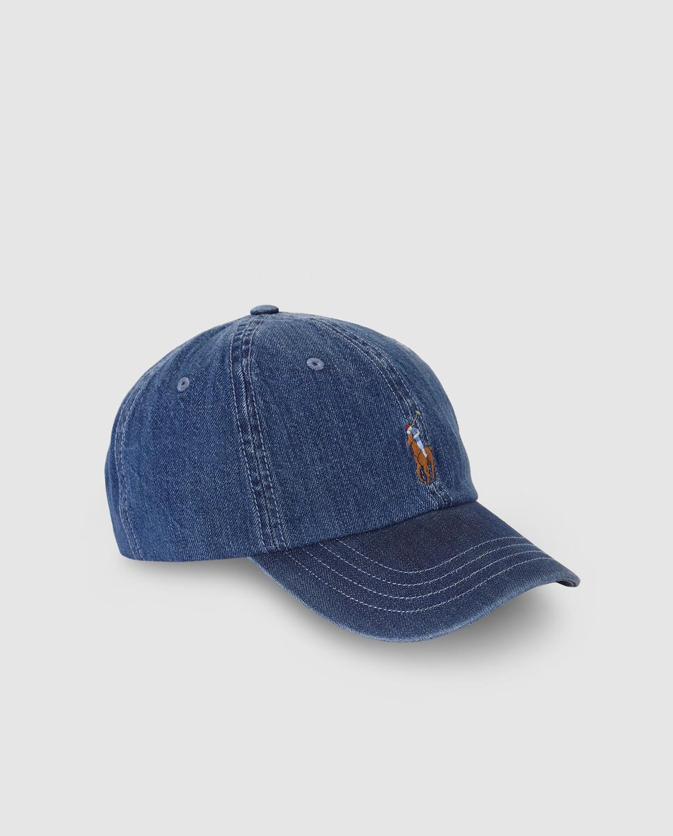 8d4ae7a389c Lyst - Lauren By Ralph Lauren Navy Blue Cotton Baseball Cap in Blue ...