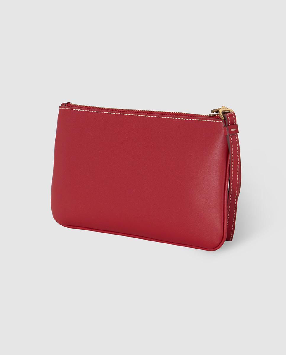 Lyst - Lauren By Ralph Lauren Red Leather Clutch With Zip in Red 27df6b1029