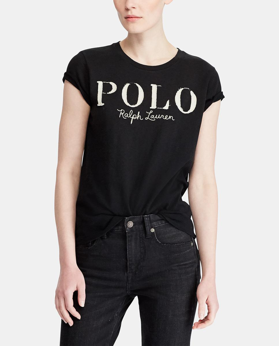 cc0d596ec2 Polo Ralph Lauren. Women's Black Short Sleeve T-shirt With Front  Embroidery. $80 $48 From El Corte Ingles