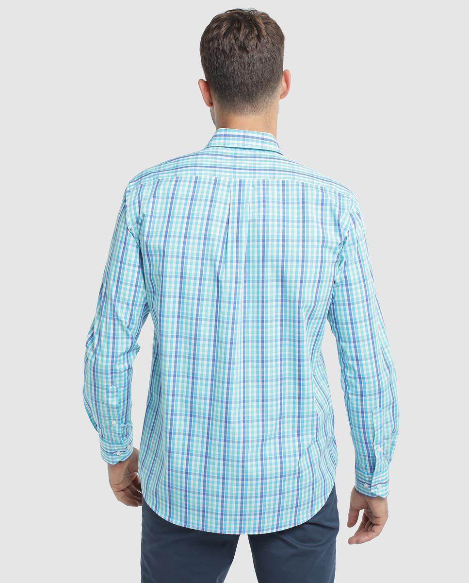 a13cde911d2 Mirto Camisa De Hombre Classic De Cuadros Azul in Blue for Men - Lyst