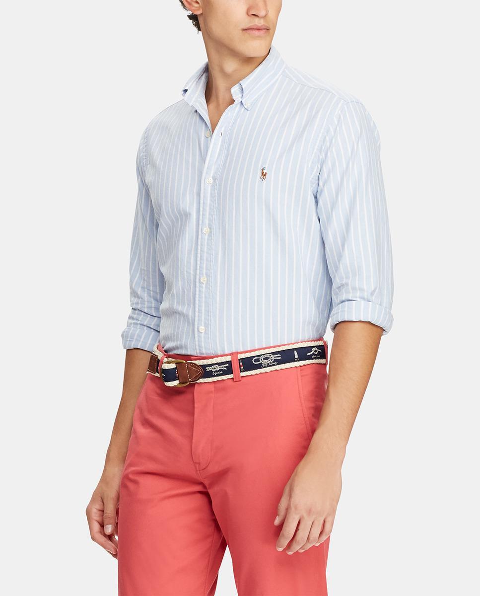 ba14b334a2ea6b Polo Ralph Lauren Regular-fit Blue Striped Oxford Shirt in Blue for ...