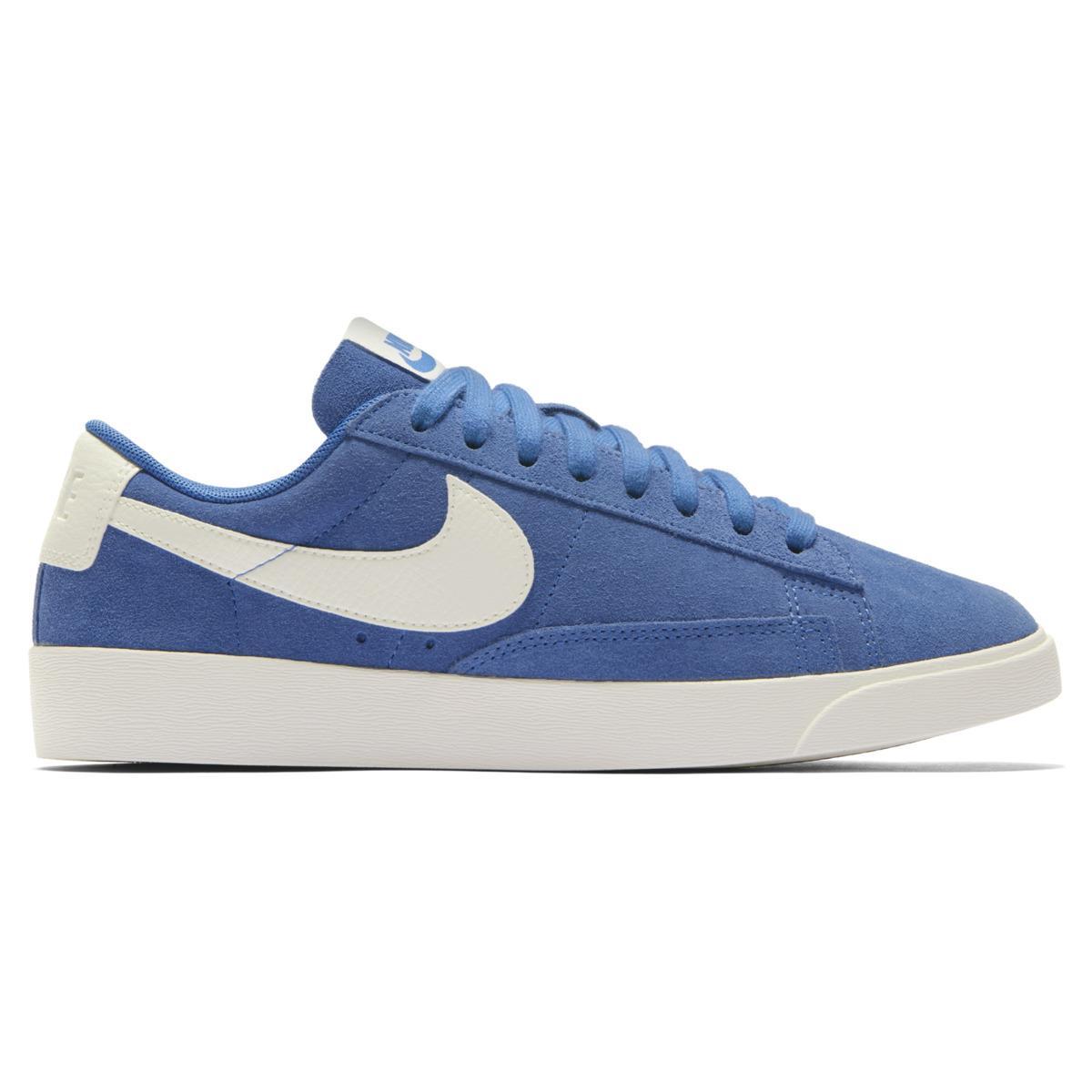 daeb9d0e37e33 Nike Blazer Low Suede Casual Trainers in Blue - Lyst