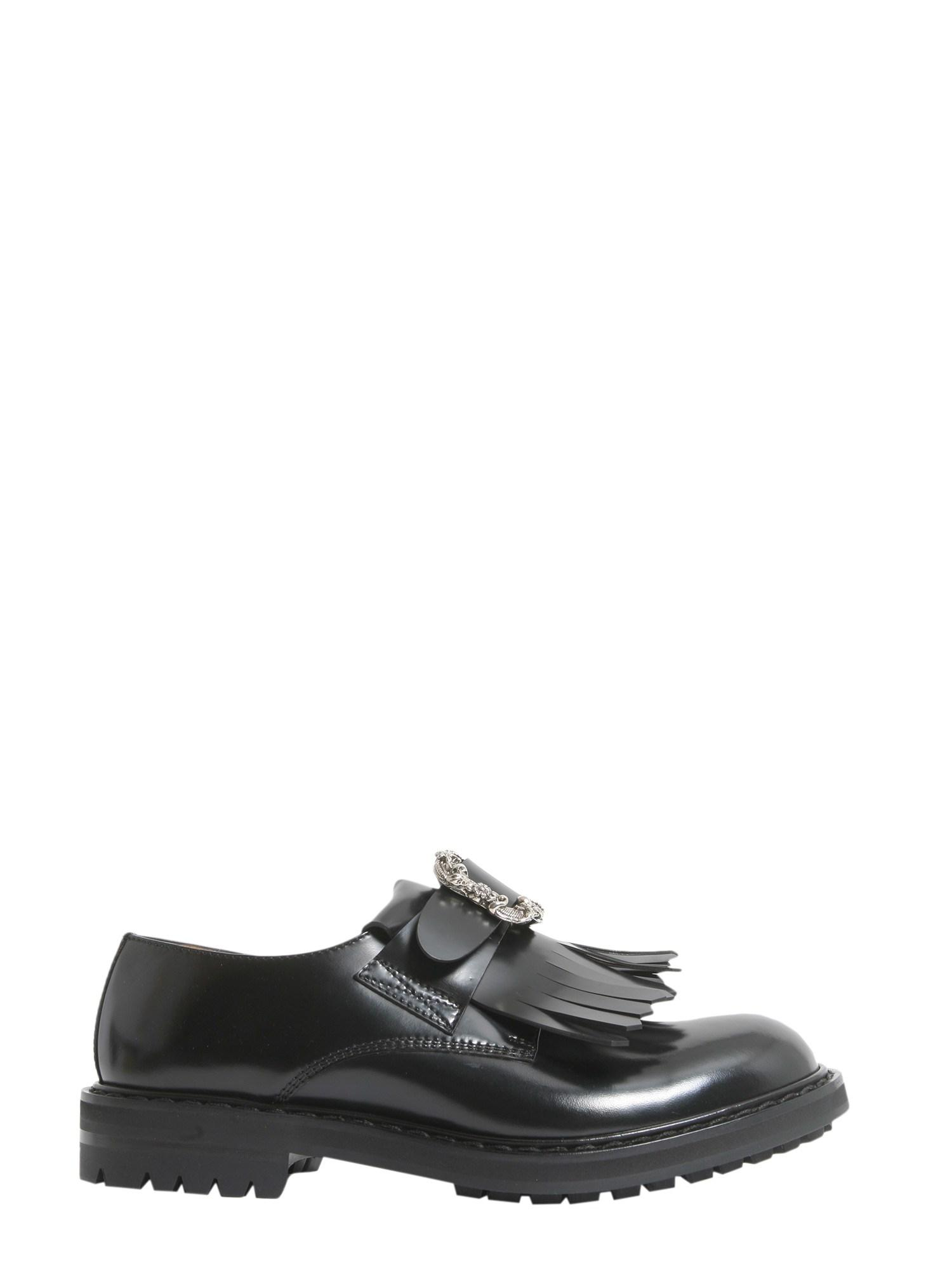 eace7b6a086 Lyst - Alexander McQueen Smooth Calf Leather Punk Buckle Loafer in ...