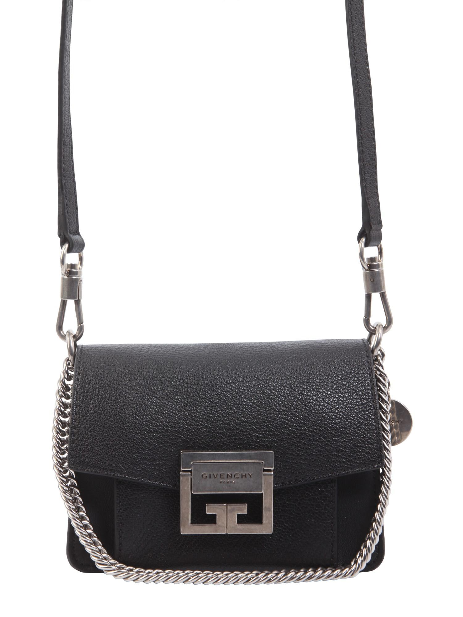ad2a75610635 Lyst - Givenchy Mini Gv3 Bag In Flat Grain Leather in Black
