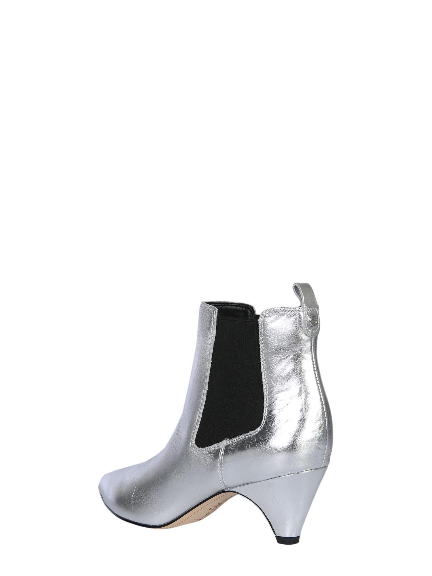 2c305b985 Sam Edelman Katt Leather Ankle Boots in Metallic - Save 34% - Lyst