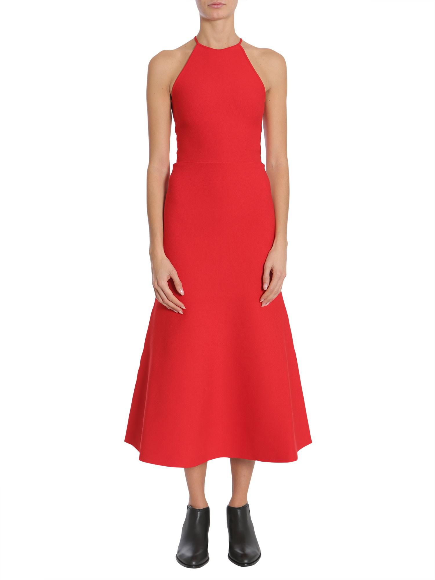 02a59ec6f7e Alexander Wang Sweater Dress With Crisscross Closure in Red - Lyst