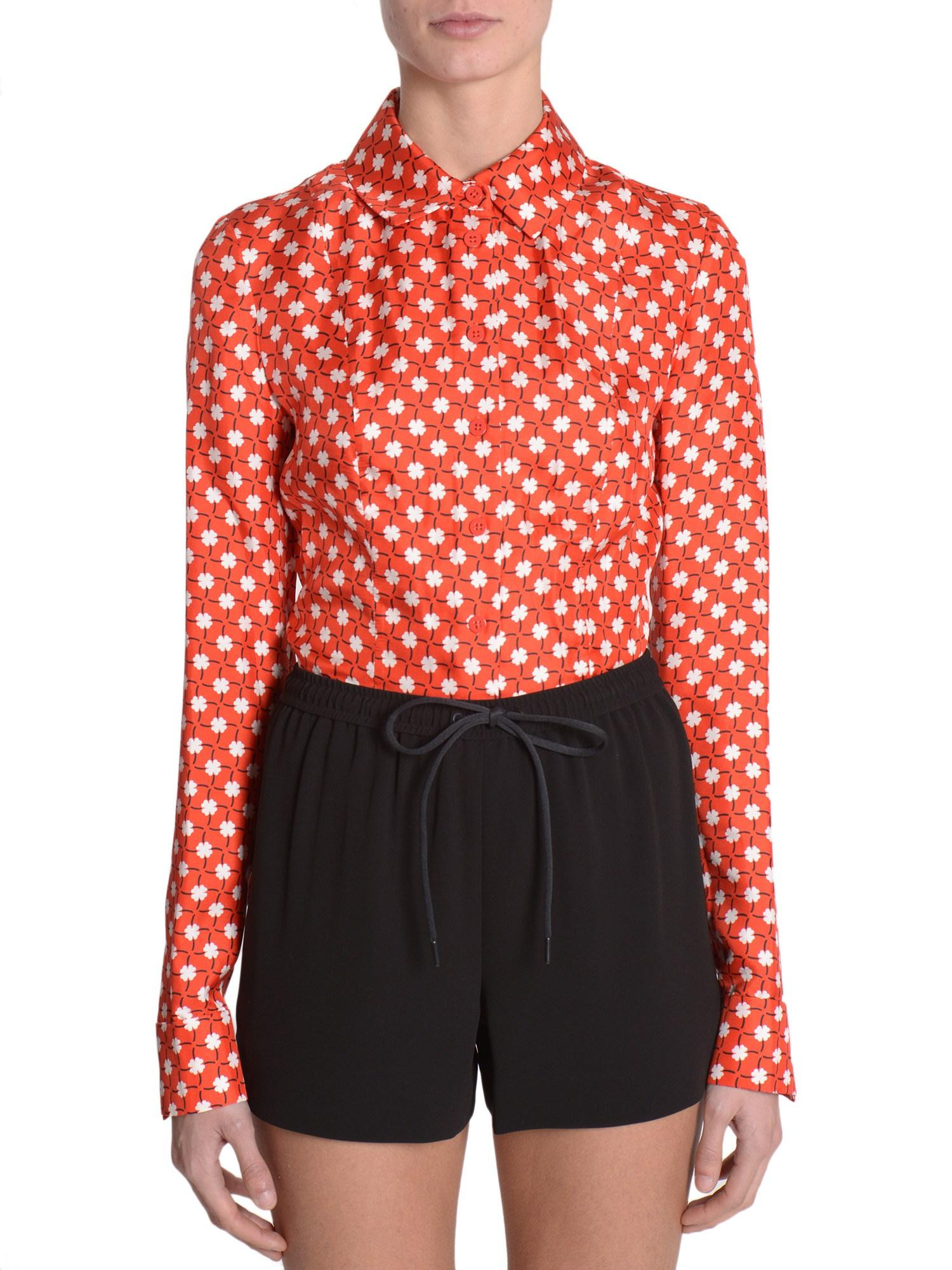 Carven Printed Silk Blouse 108