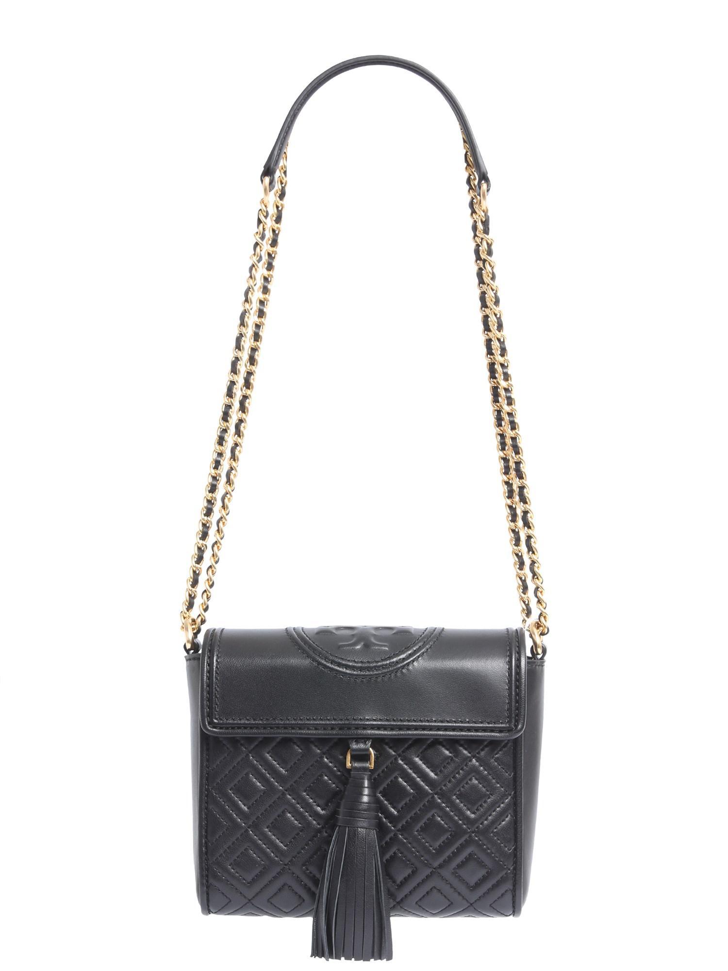 a650b48010f Tory Burch Fleming Crossbody Bag in Black - Save 11% - Lyst