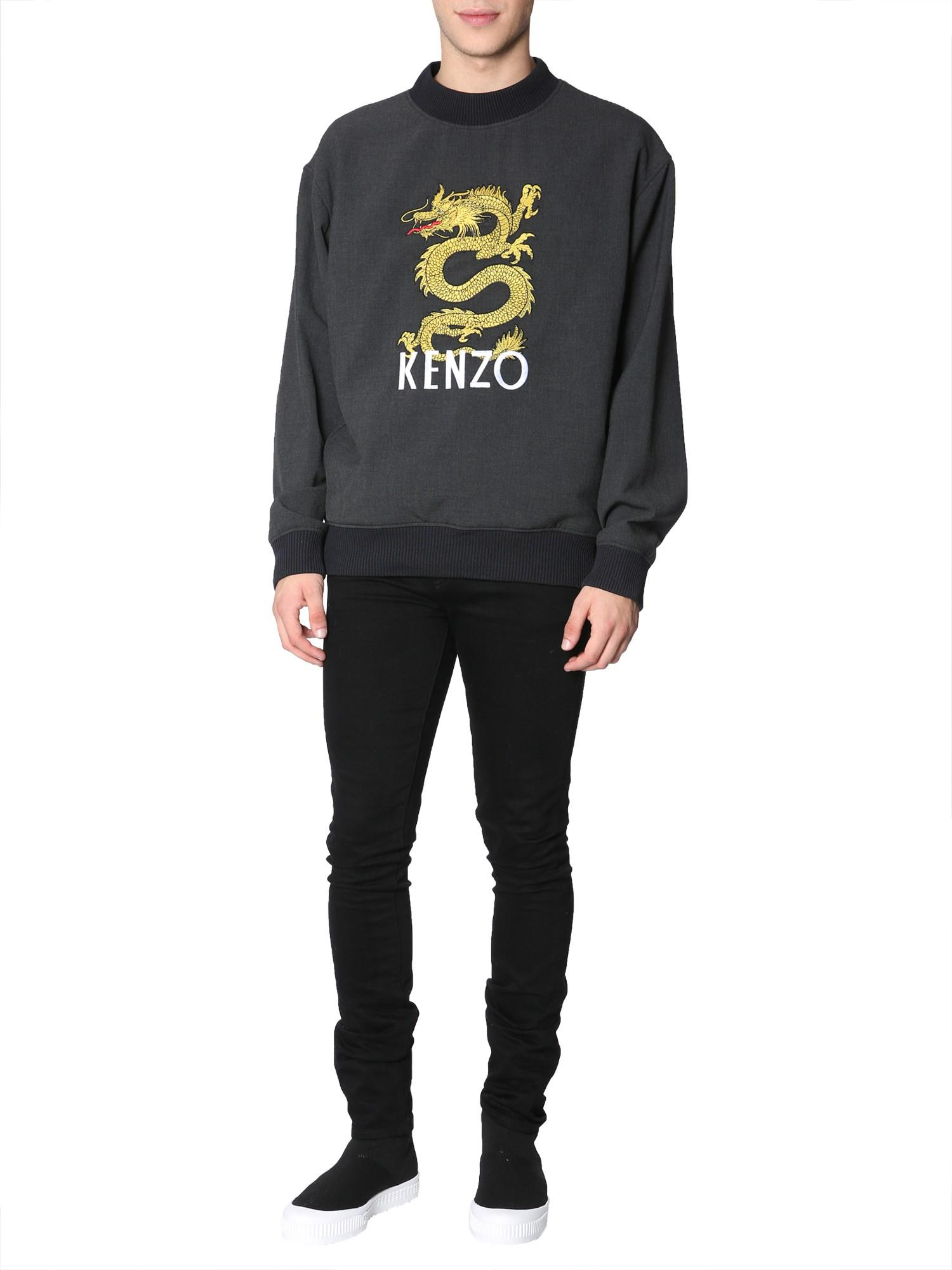a787671fa Lyst - KENZO Sweatshirt With Embroidered Logo in Gray for Men