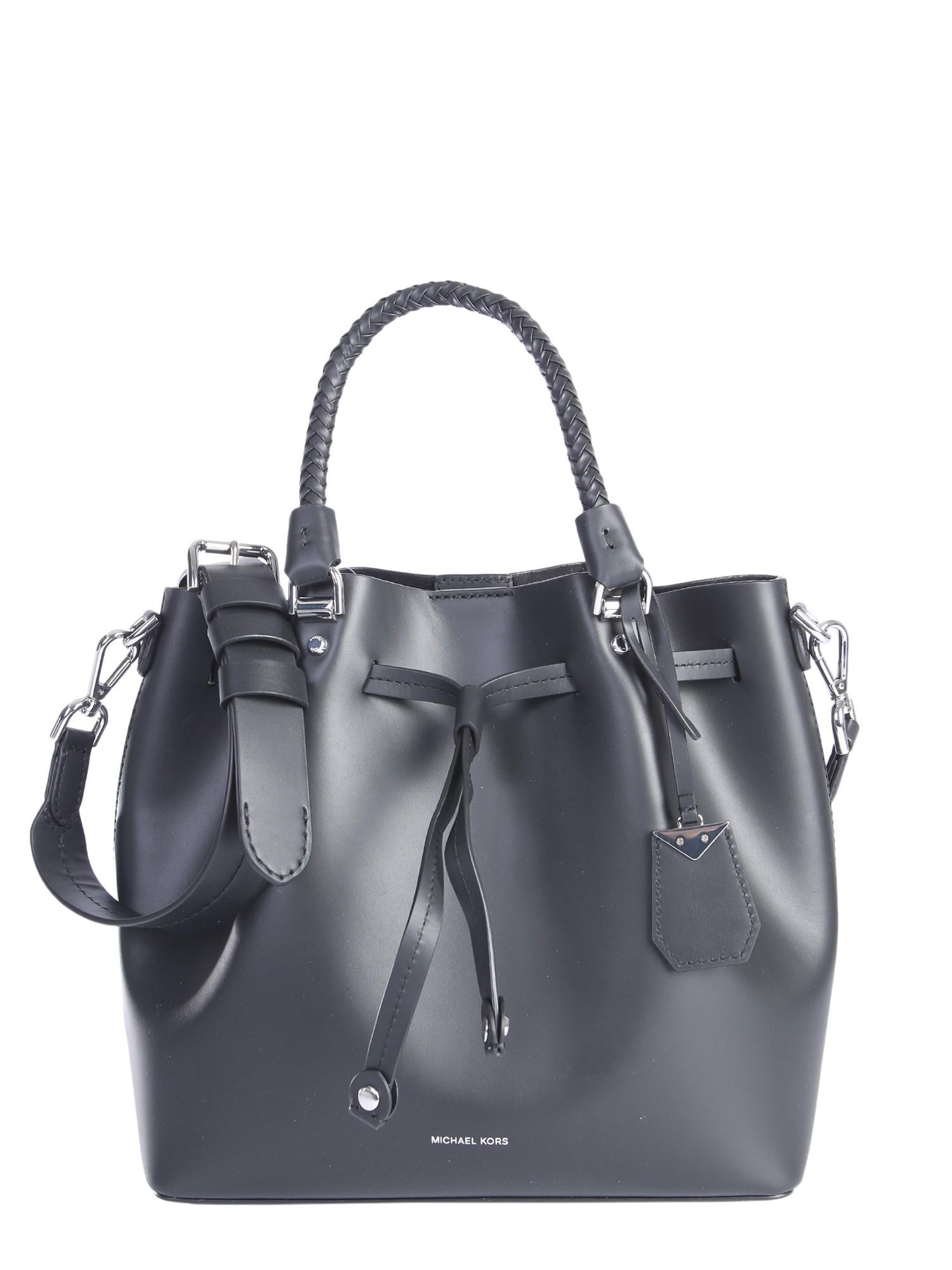 5409a4907c21 Lyst - MICHAEL Michael Kors Blakely Leather Bucket Bag in Black