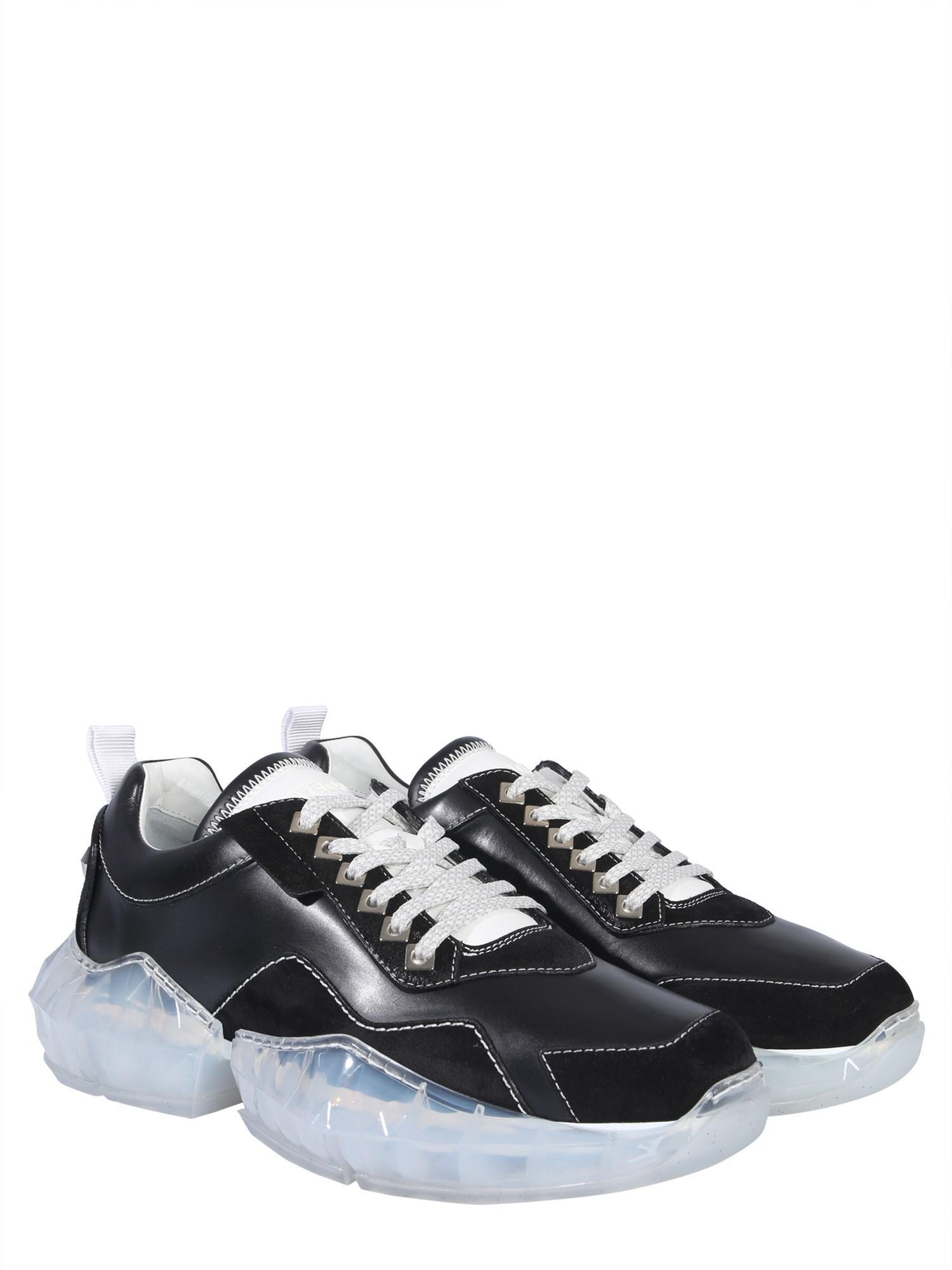 e9f13cdbda1 Jimmy Choo Sneaker Diamond In Pelle in Black for Men - Lyst