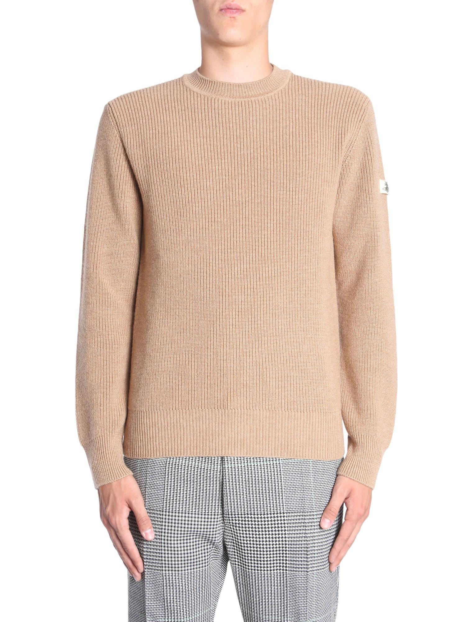 adc5518067f23 Vivienne Westwood - Natural Round Collar Wool Jumper for Men - Lyst. View  fullscreen