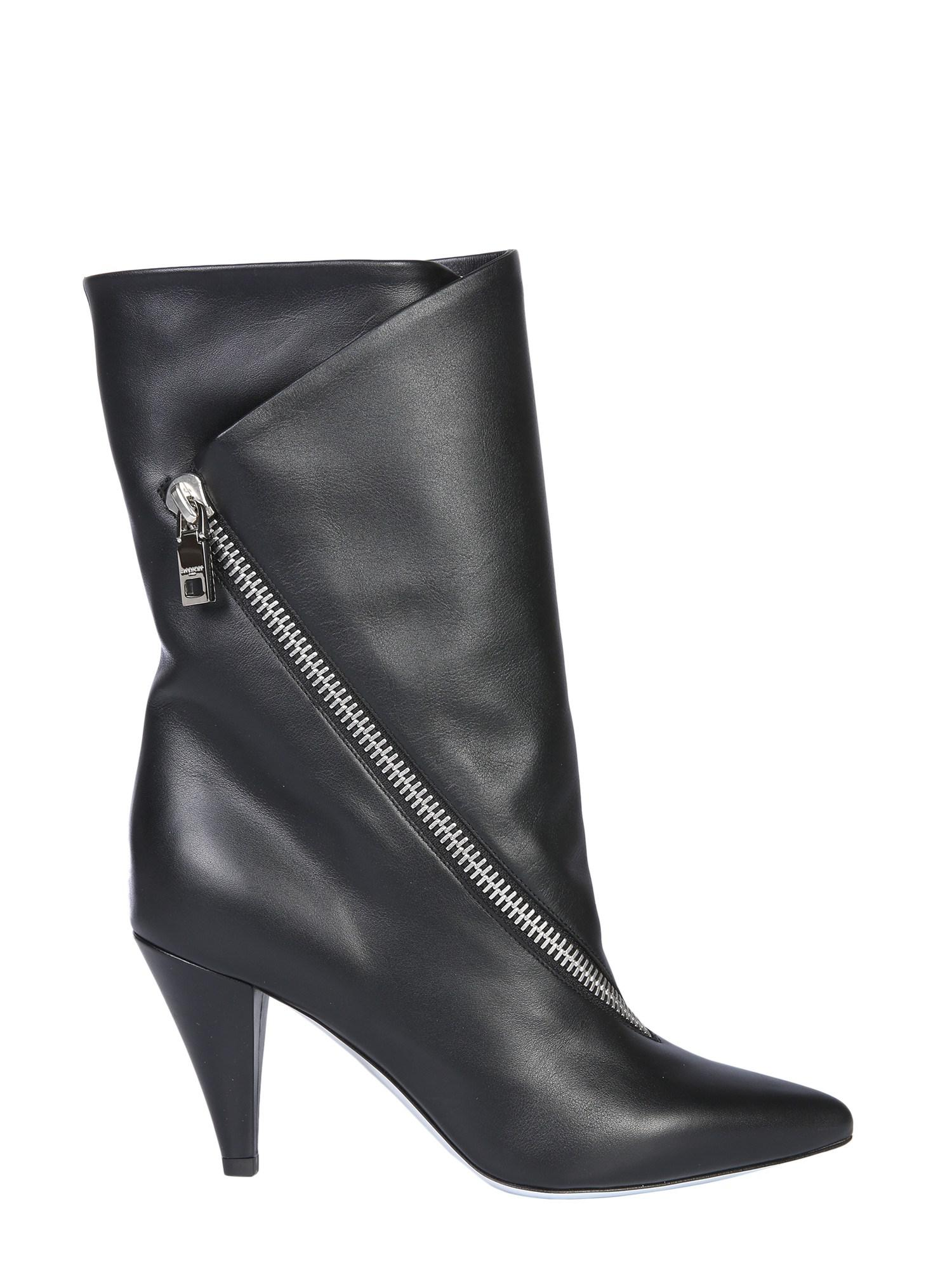 41b92f7d6ab5 Lyst - Givenchy Medium Leather Boots With Zip in Black