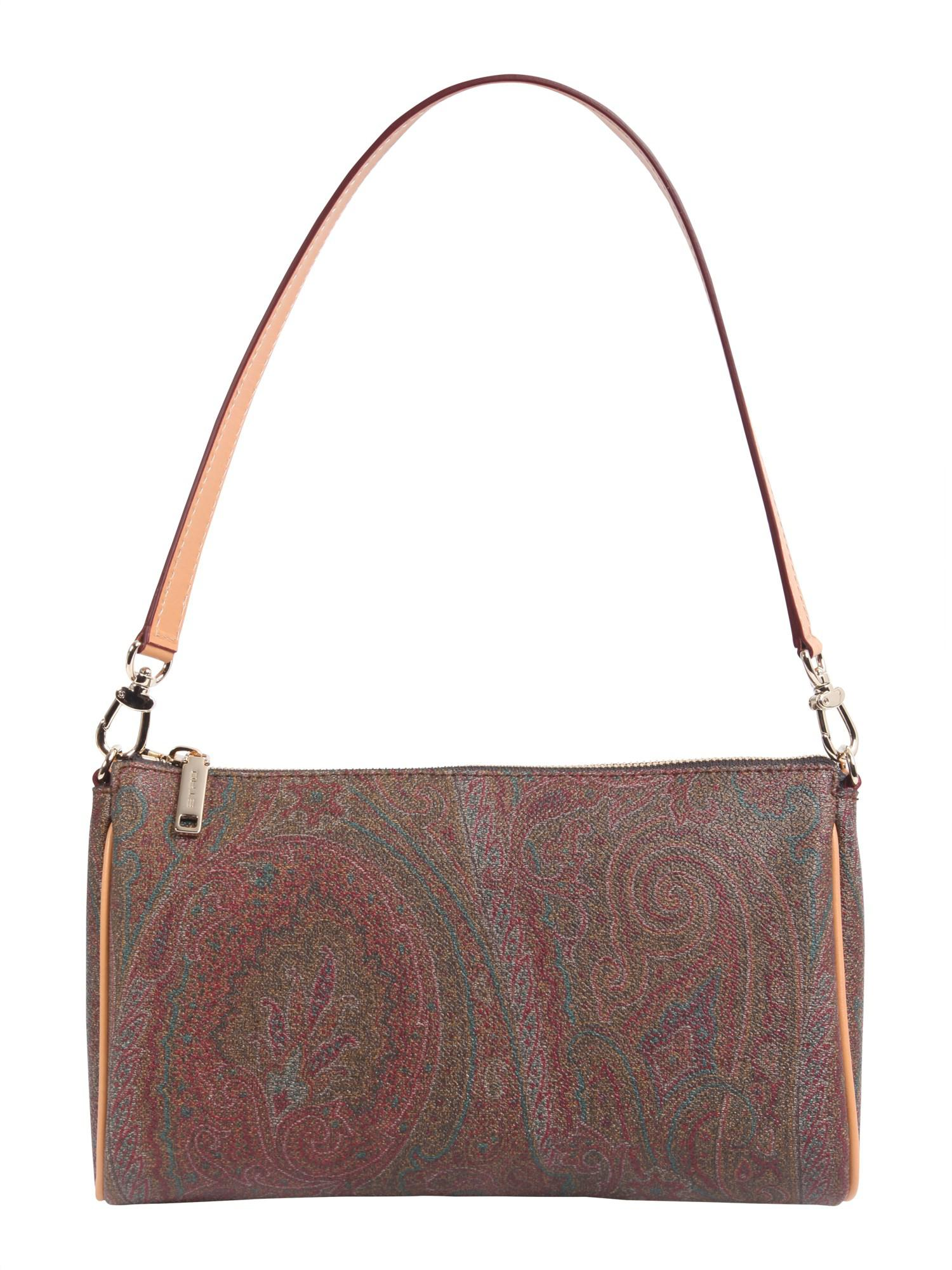b90b16627450 Etro Paisley Printed Shoulder Bag With Leather Details - Lyst