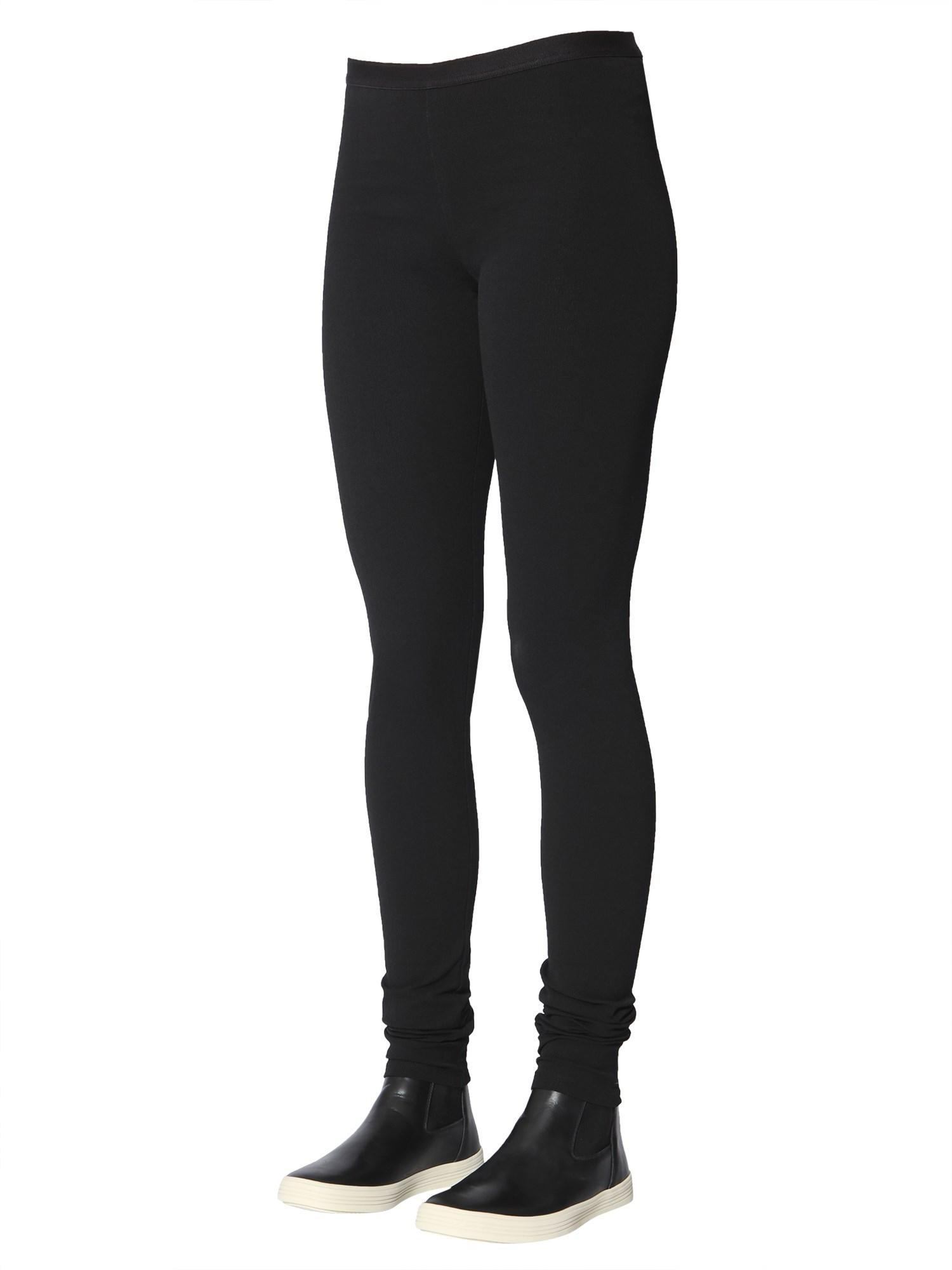 90bbd5ad7b083f Rick Owens Cotton Mixed Crêpe LEGGINGS in Black - Save 3% - Lyst