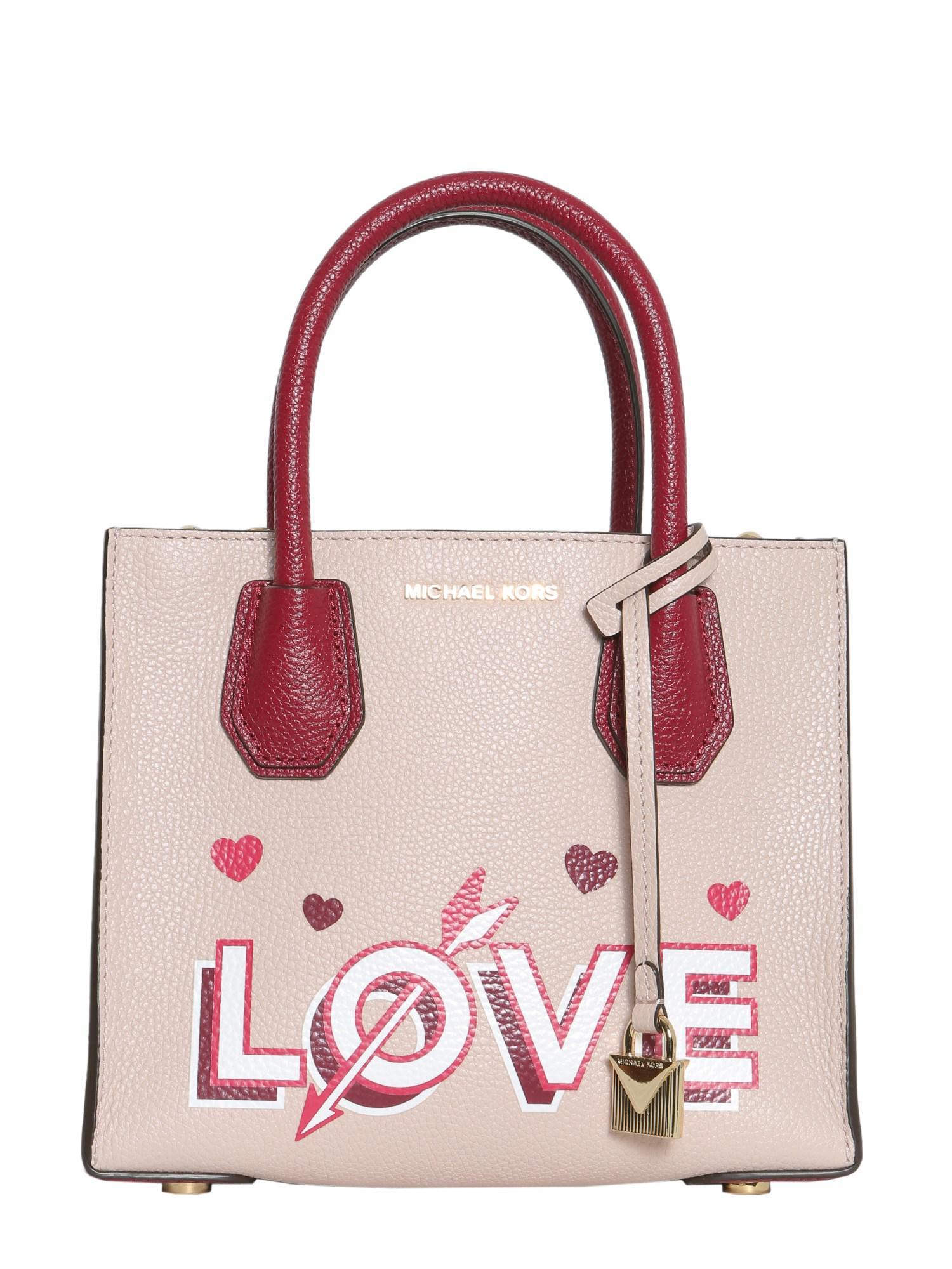 6933bac9e47b Lyst - MICHAEL Michael Kors Mercer Love Medium Leather Messenger Bag ...