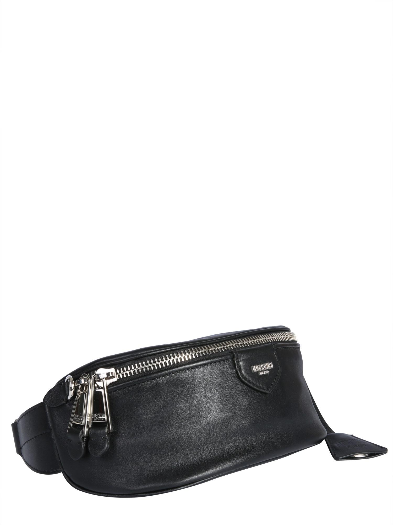 c23c241579 Lyst - Moschino Leather Belt Pouch With Lettering Logo in Black