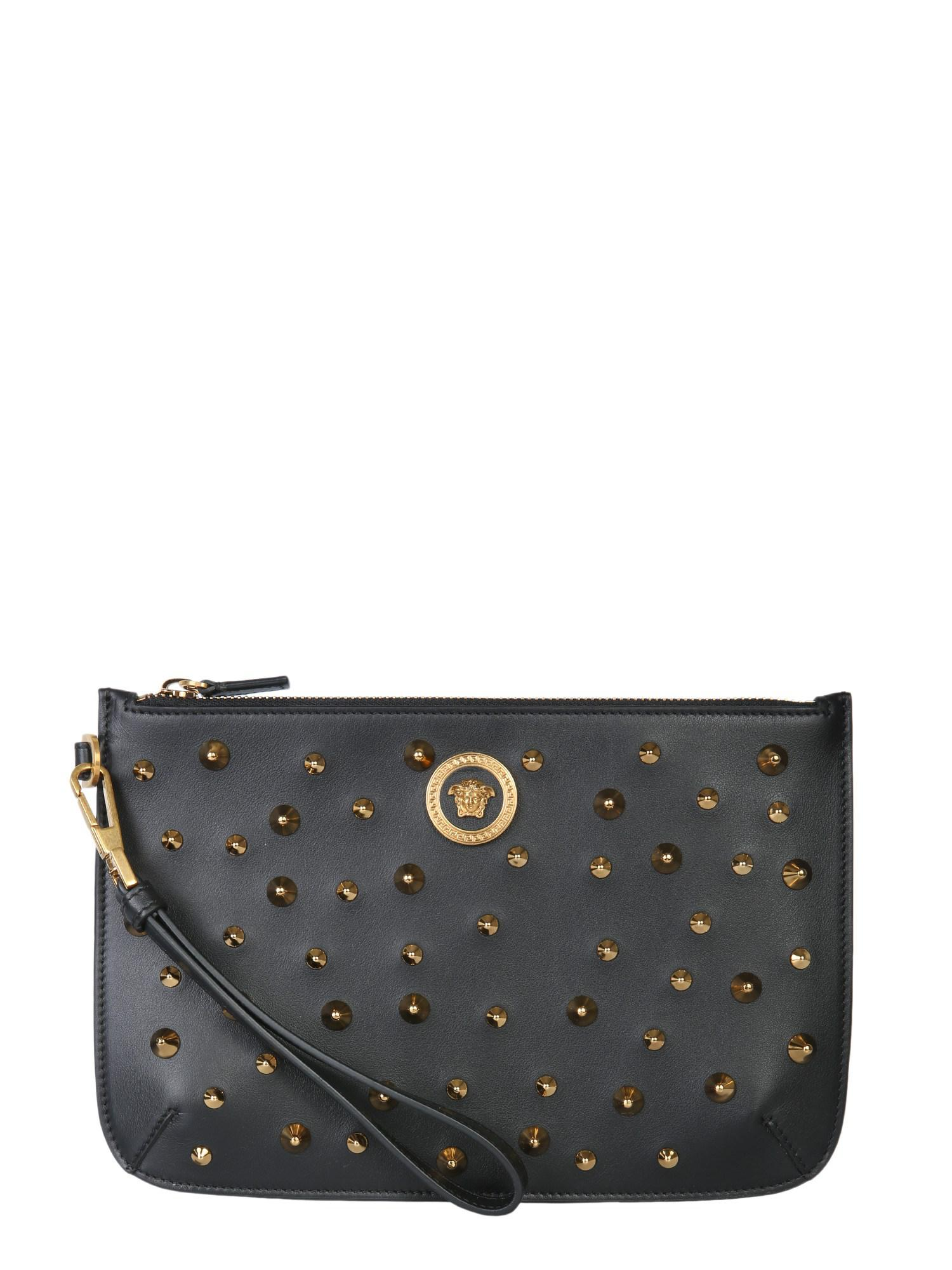 40fea78c4d0c Versace Small Medusa Clutch Bag in Black - Save 16.139240506329116 ...