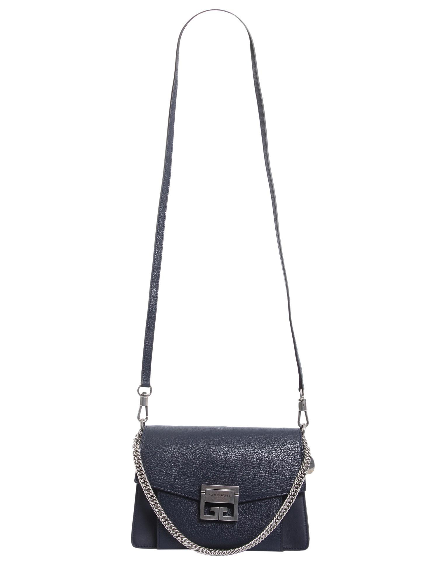 Givenchy - Blue Small Gv3 Leather Bag In Grained And Smooth Leather - Lyst.  View Fullscreen ea15263885