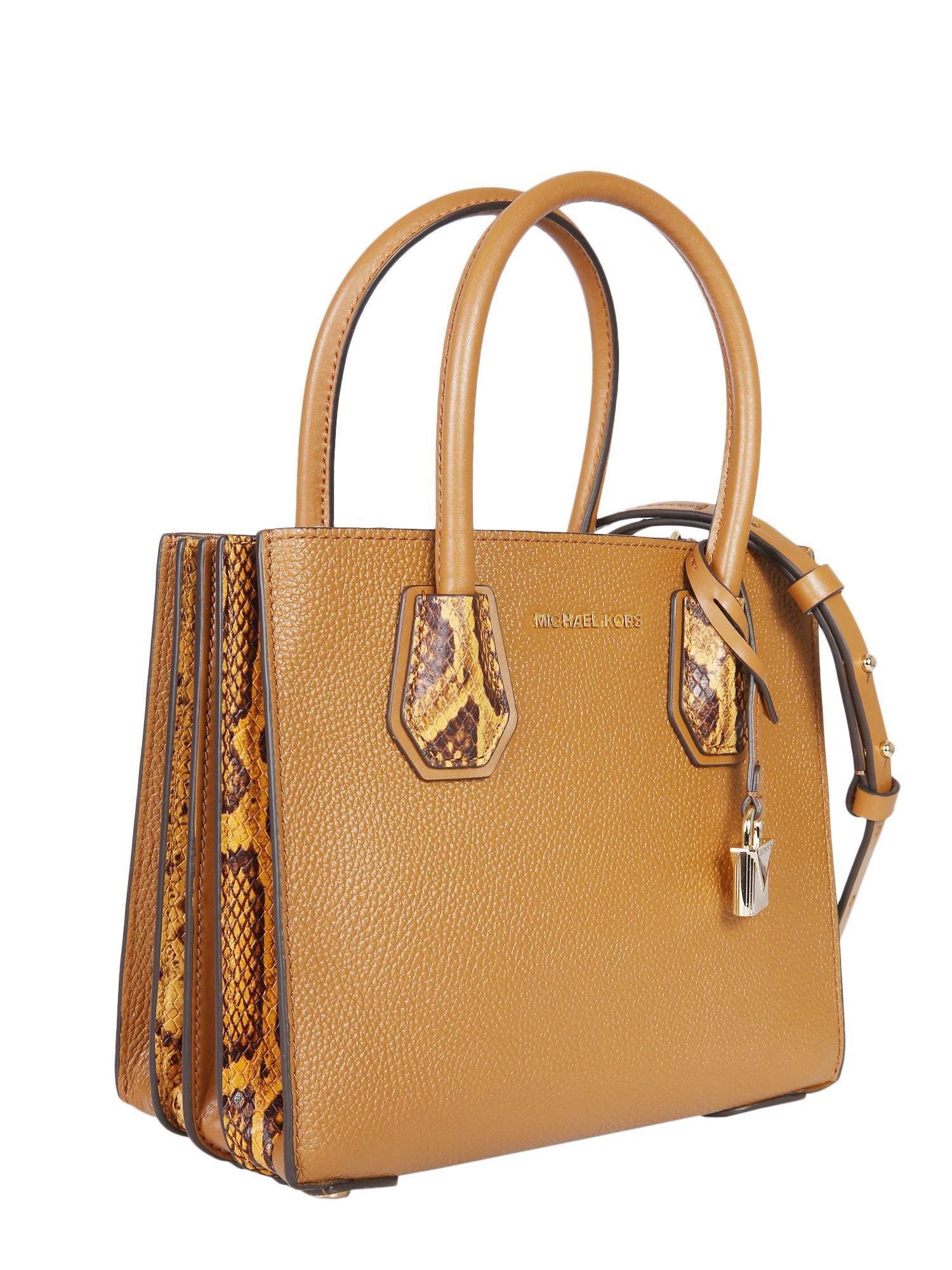 bd46f0004d92 MICHAEL Michael Kors - Brown Medium Mercer Leather Bag - Lyst. View  fullscreen