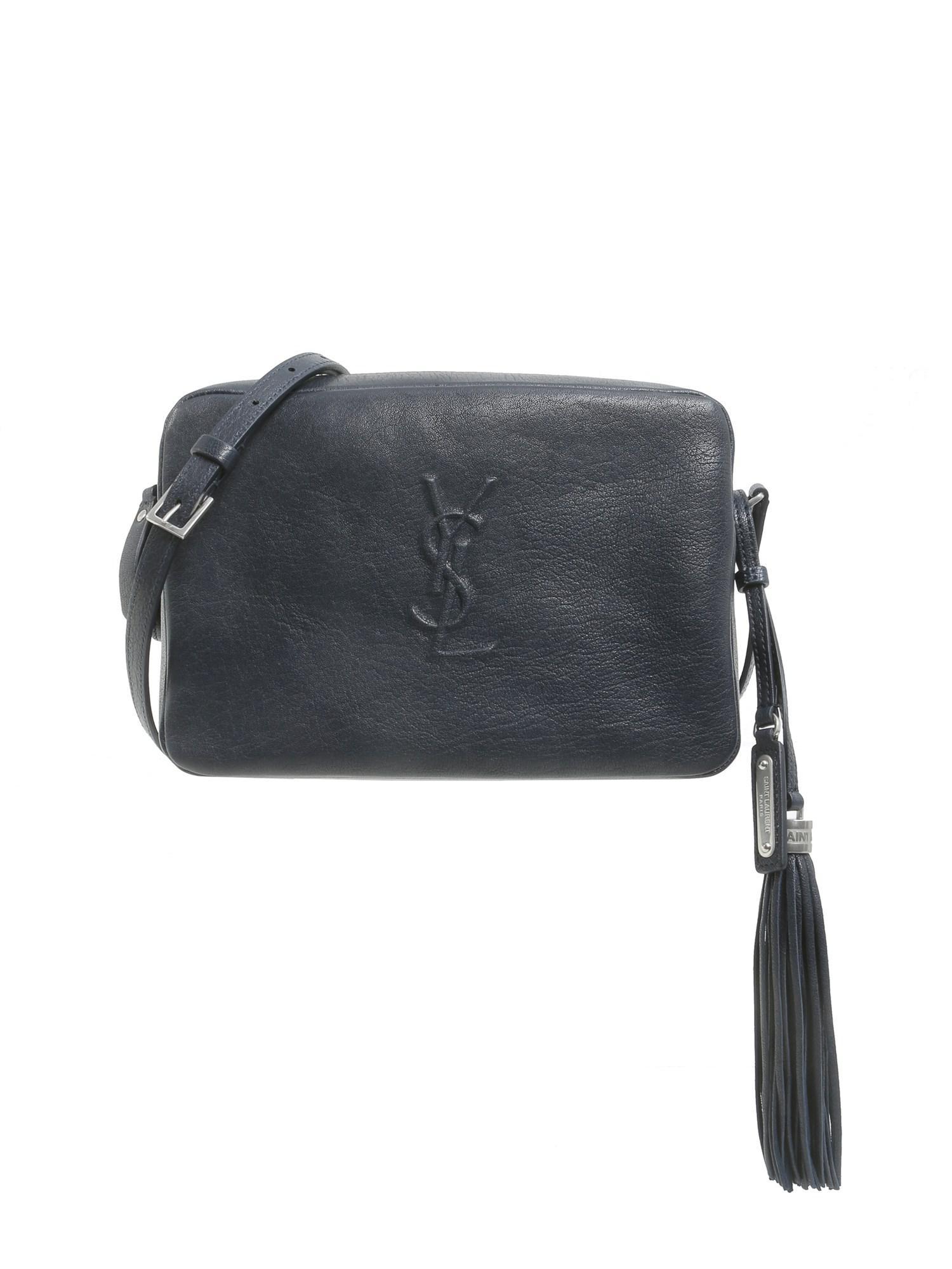 Lyst Saint Laurent Lou Leather Camera Bag In Blue