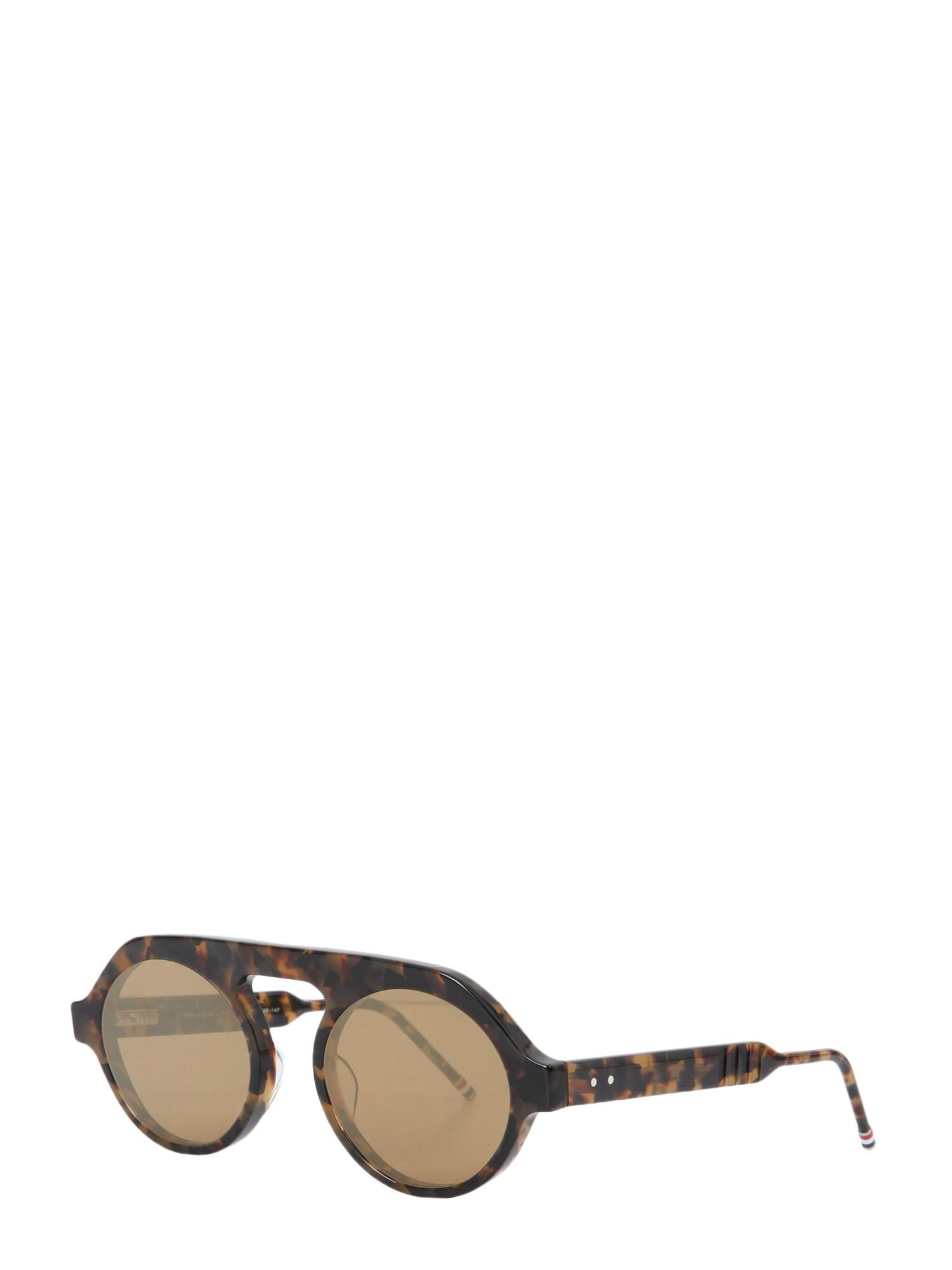 9ad68cdf266 Lyst - Thom Browne Acetate Round Aviator Sunglasses in Brown