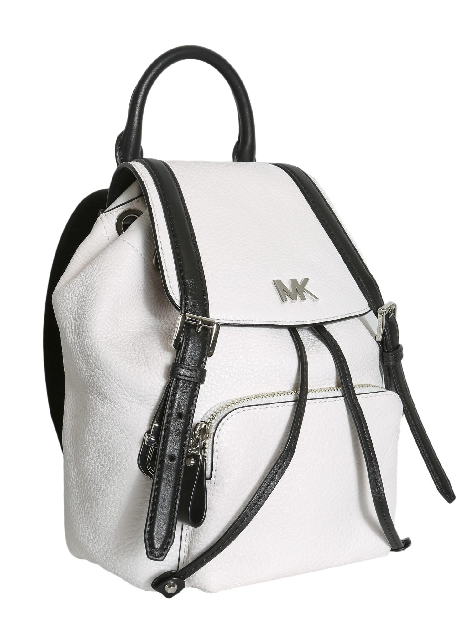 ac402258be33 MICHAEL Michael Kors Beacon Small Leather Backpack in White - Lyst