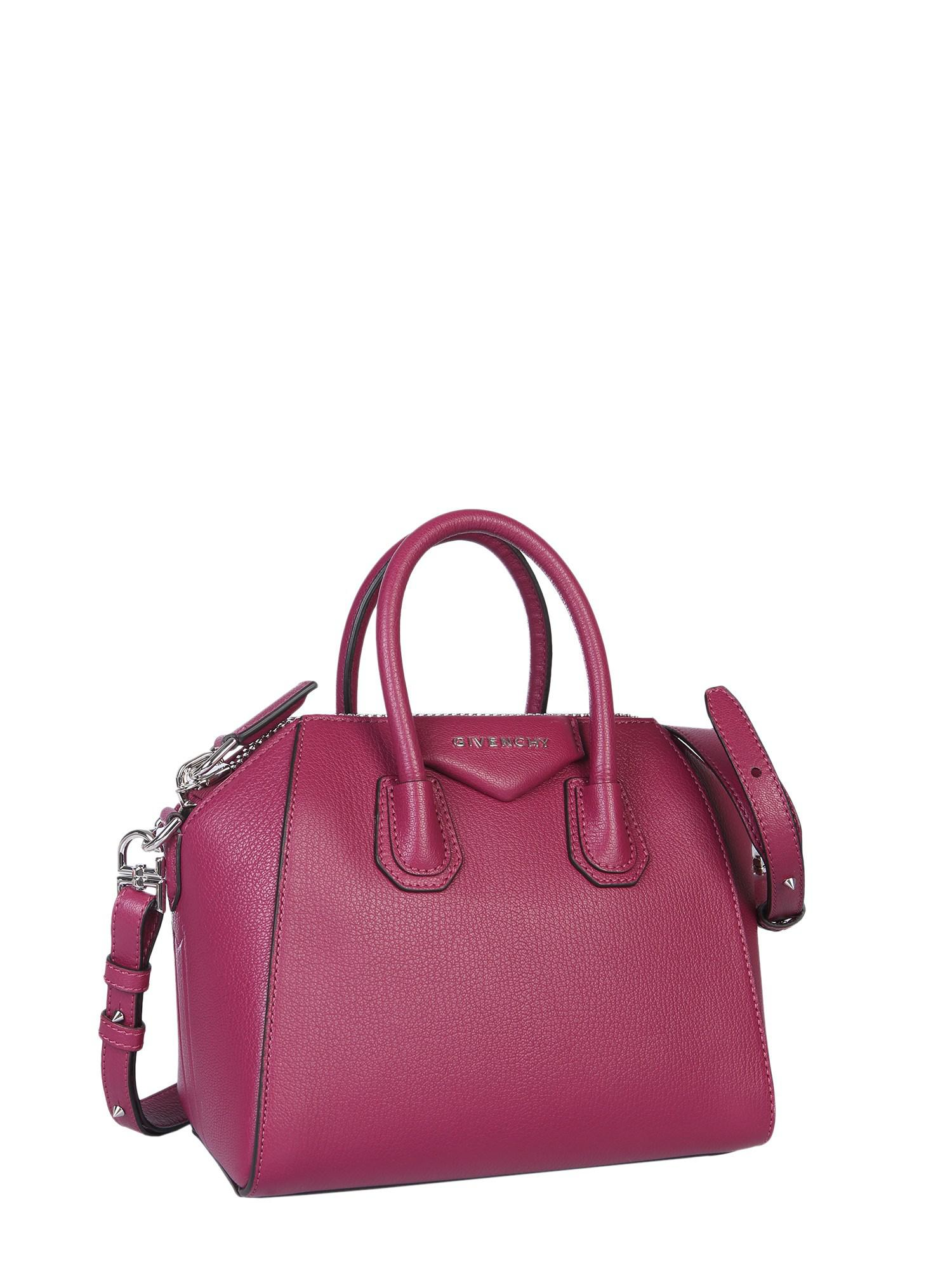 Givenchy - Purple Small Antigona Bag In Hammered Leather - Lyst. View  fullscreen 0a3f2b25dc