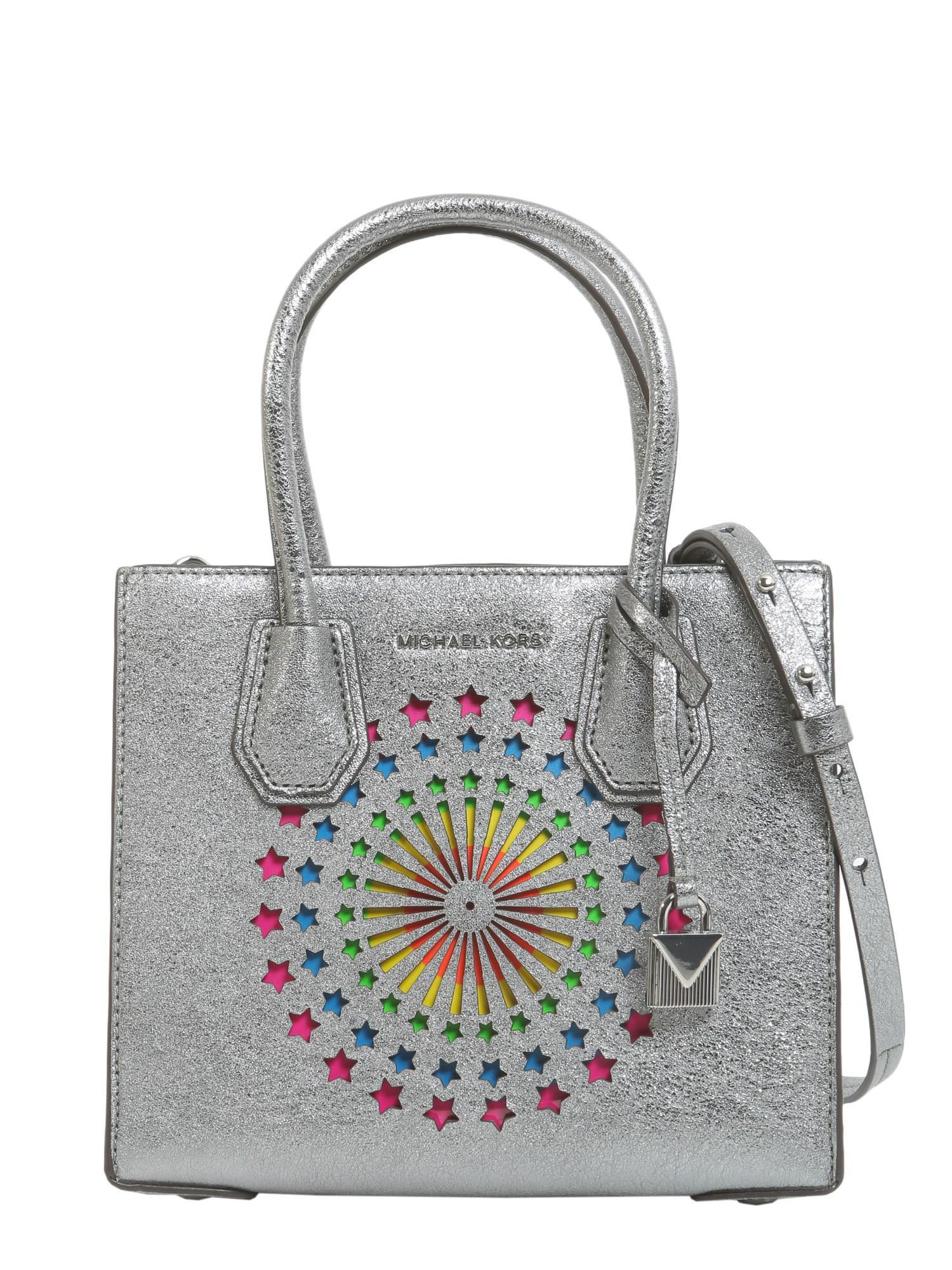 c82c79f1d151e Lyst - MICHAEL Michael Kors Mercer Modern Disco Leathe Bag in Metallic