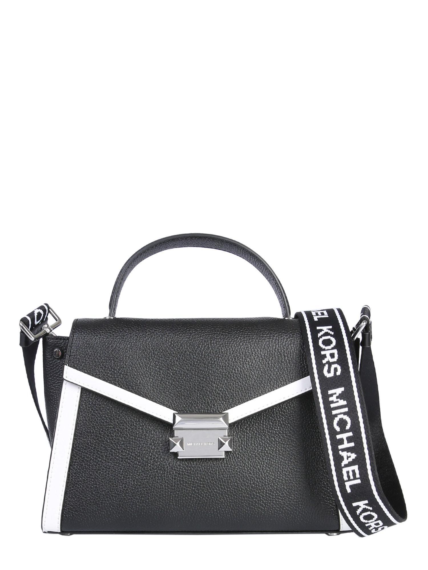 5c2bd5c7b207 Michael Michael Kors Medium Whitney Leather Handbag in Black - Lyst