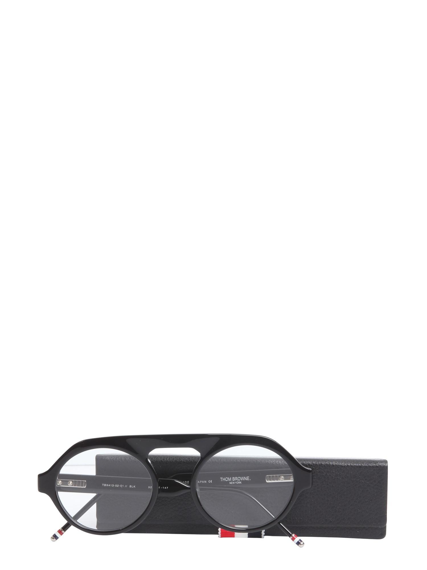 6a7a6dd9db9b Lyst - Thom Browne Oversize Aviator Optical Glasses in Black for Men
