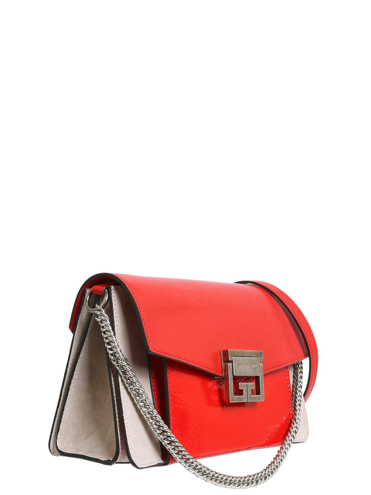a187ebde4fd Givenchy - Red Small Gv3 Bag In Double Leather - Lyst. View fullscreen