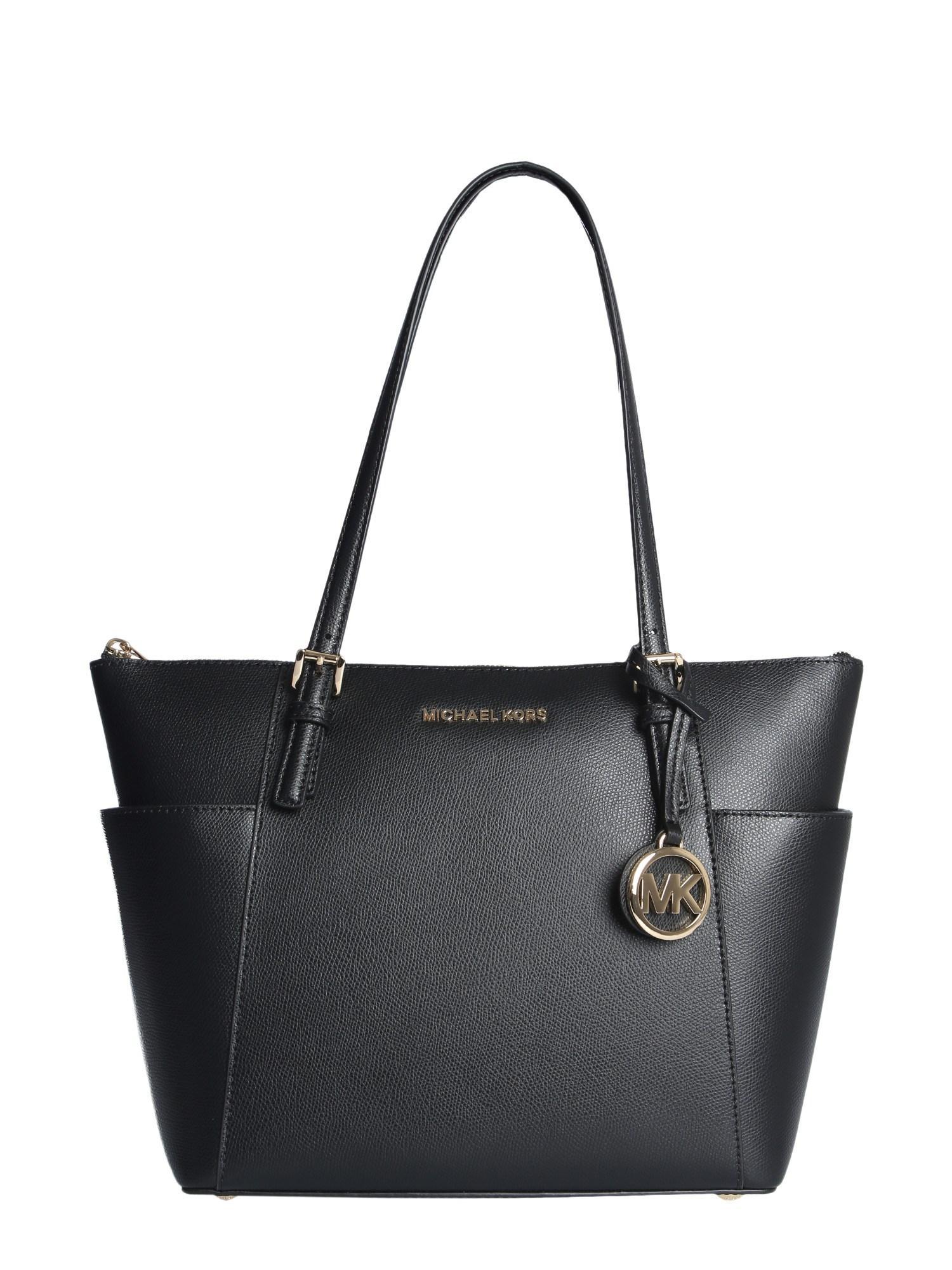 1a28105cba8d MICHAEL Michael Kors. Women s Black Jet Set Item Tote Bag In Saffiano  Leather