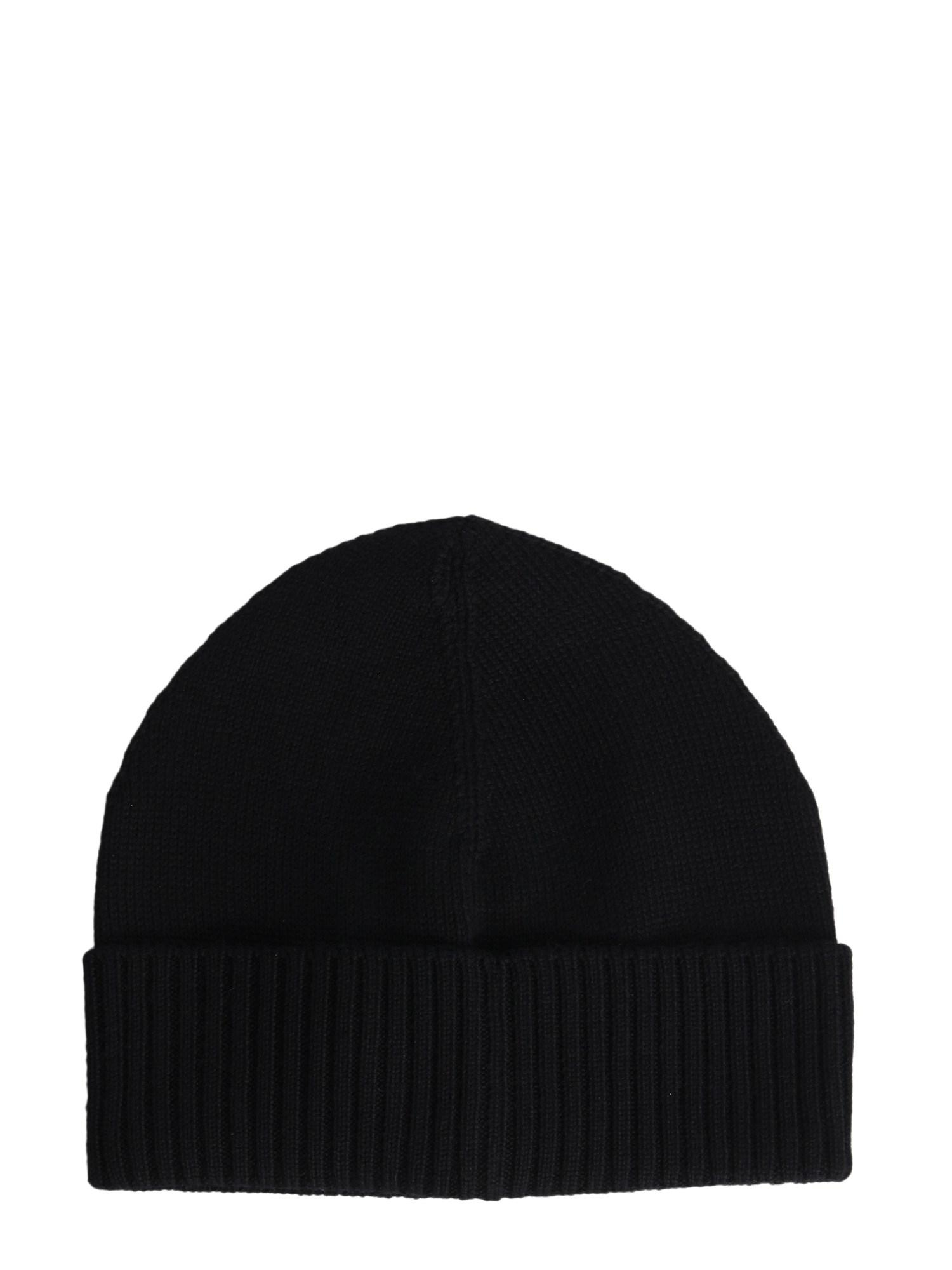 f92fcb8615d Vivienne Westwood - Black Wool Beanie With Iconic Embroidery for Men - Lyst