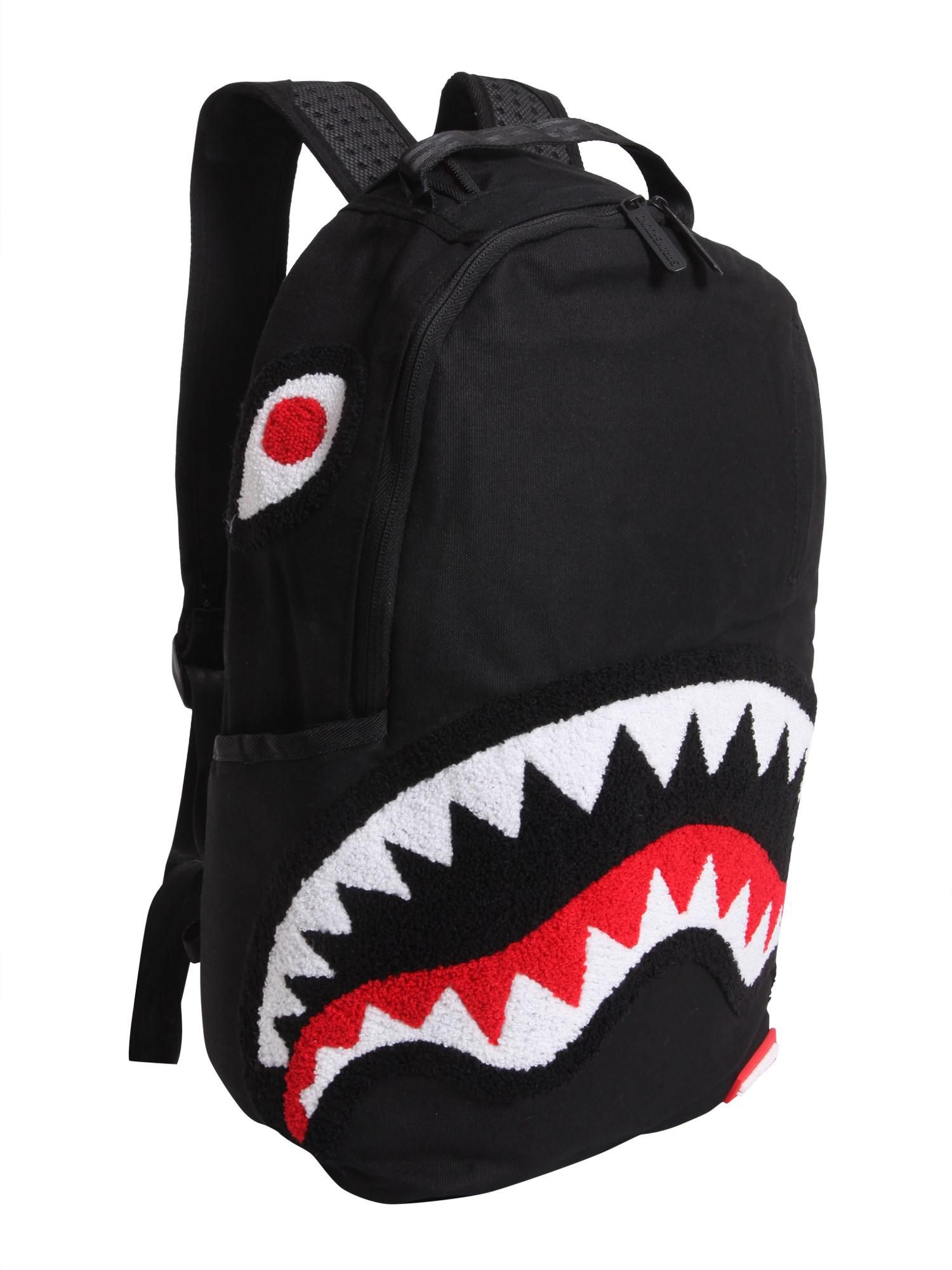 439cdd339dc Sprayground Ghost Chenille Shark Cotton Backpack in Black for Men - Lyst