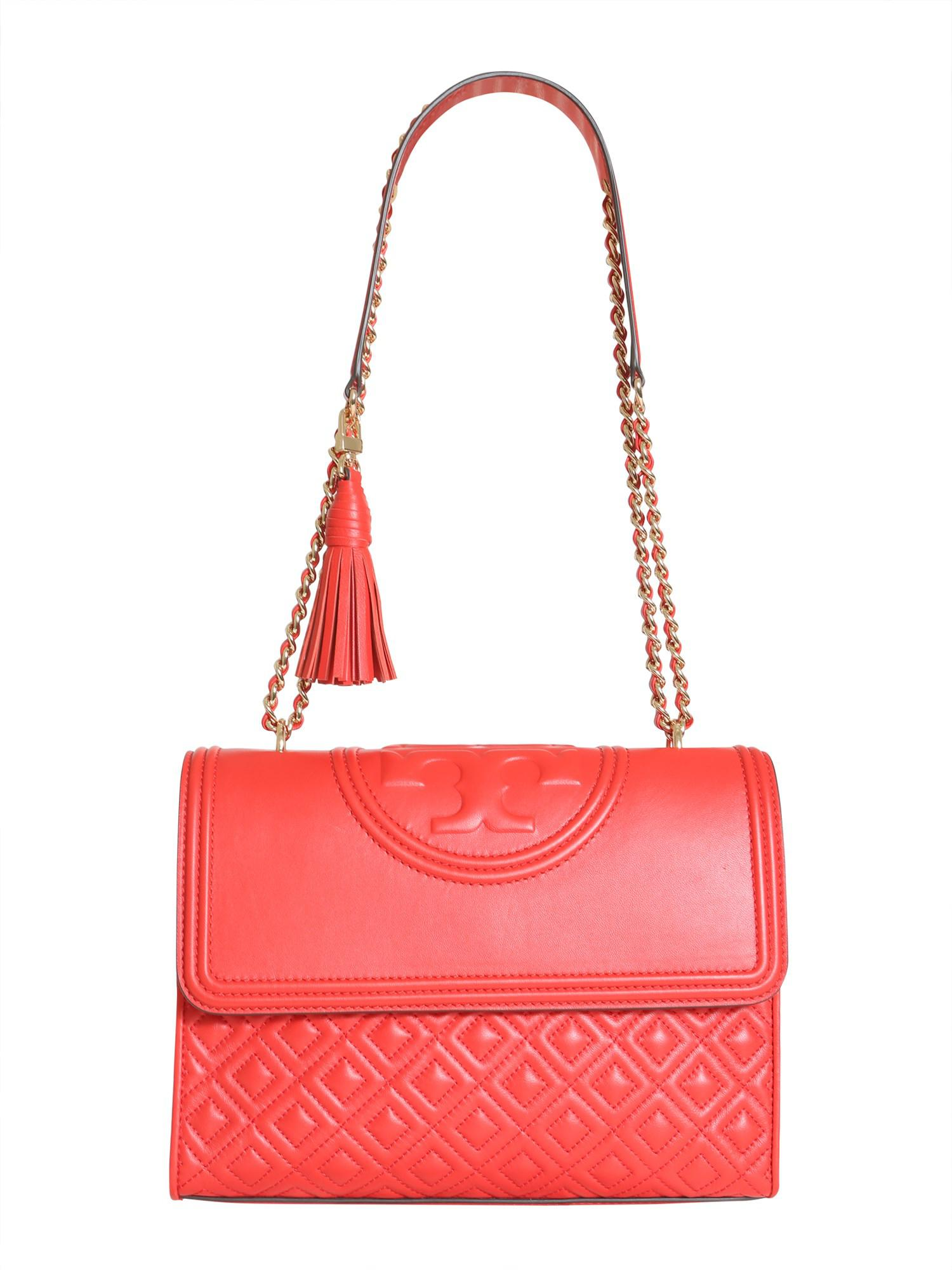 e564f446f180 Tory Burch Flaming Leather Bag in Red - Lyst