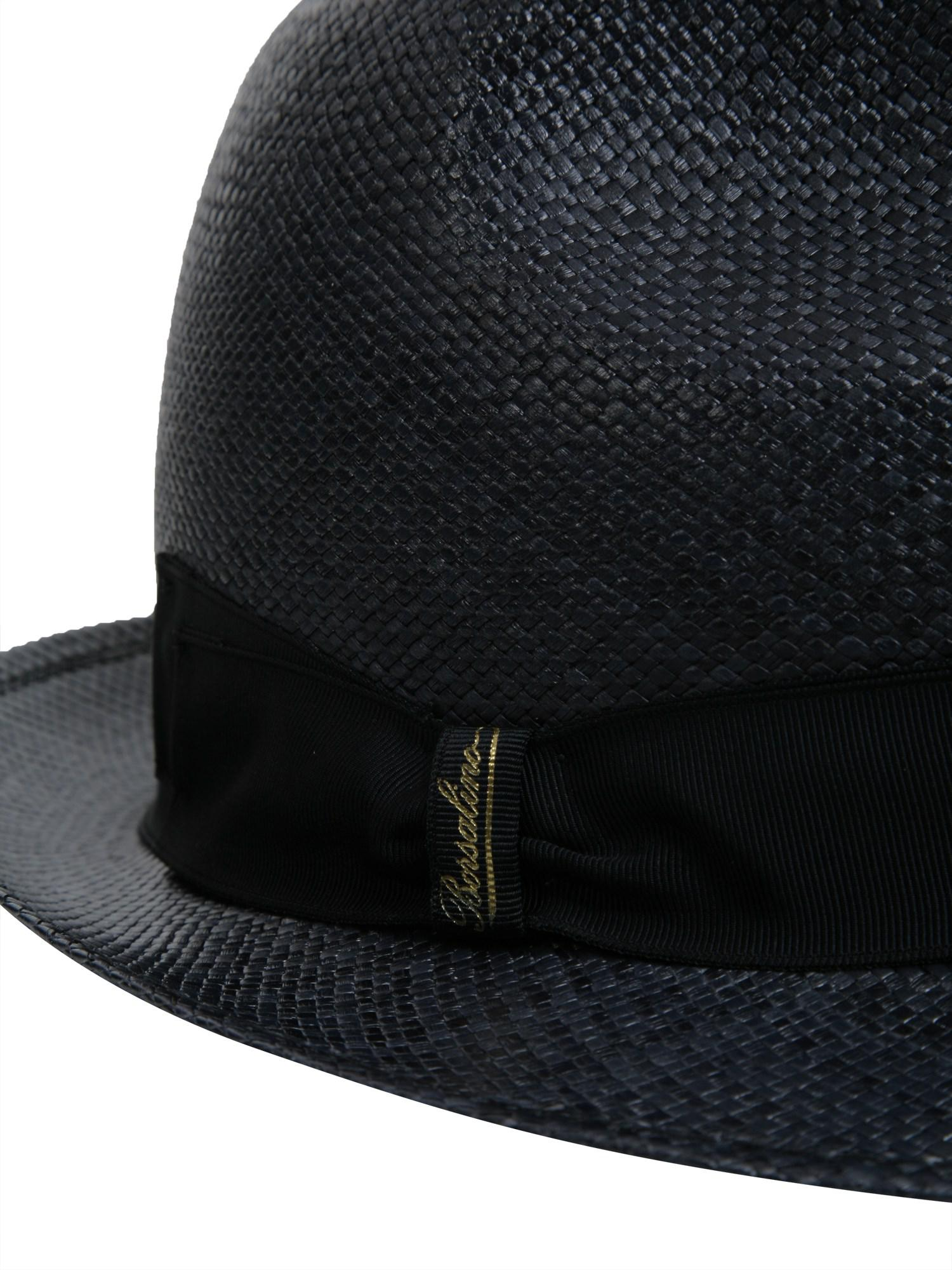 Borsalino - Blue Cappello Panama Quito A Tesa Piccola In Canapa for Men -  Lyst. View fullscreen 2c0f1d9e3c09