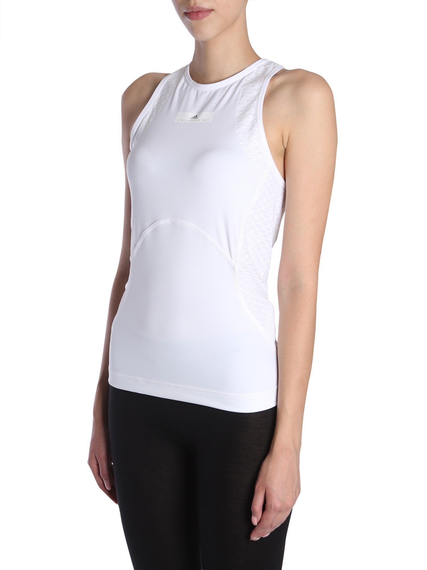 1c62fa476d Adidas By Stella McCartney - White Tank Top - Lyst. View fullscreen