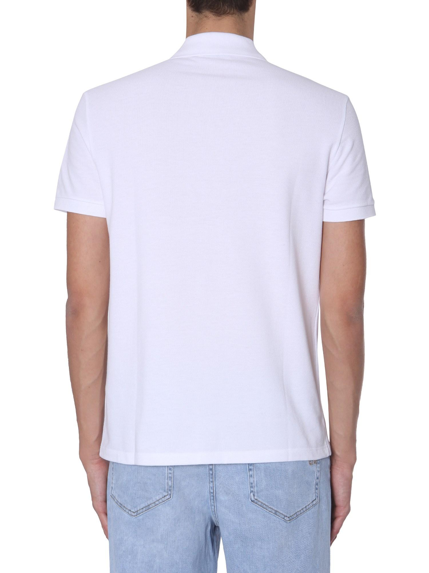 a7d79cae5 Lyst - Versace Cotton Piqué Polo With Medusa Logo Print in White for Men